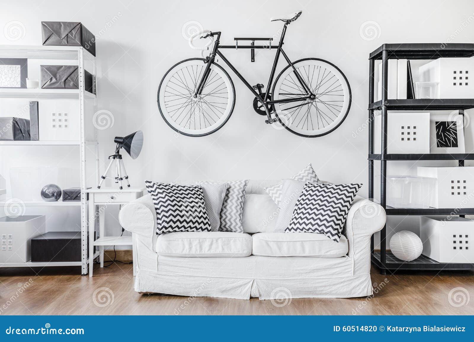 Zwart wit eigentijds binnenland stock foto afbeelding bestaande