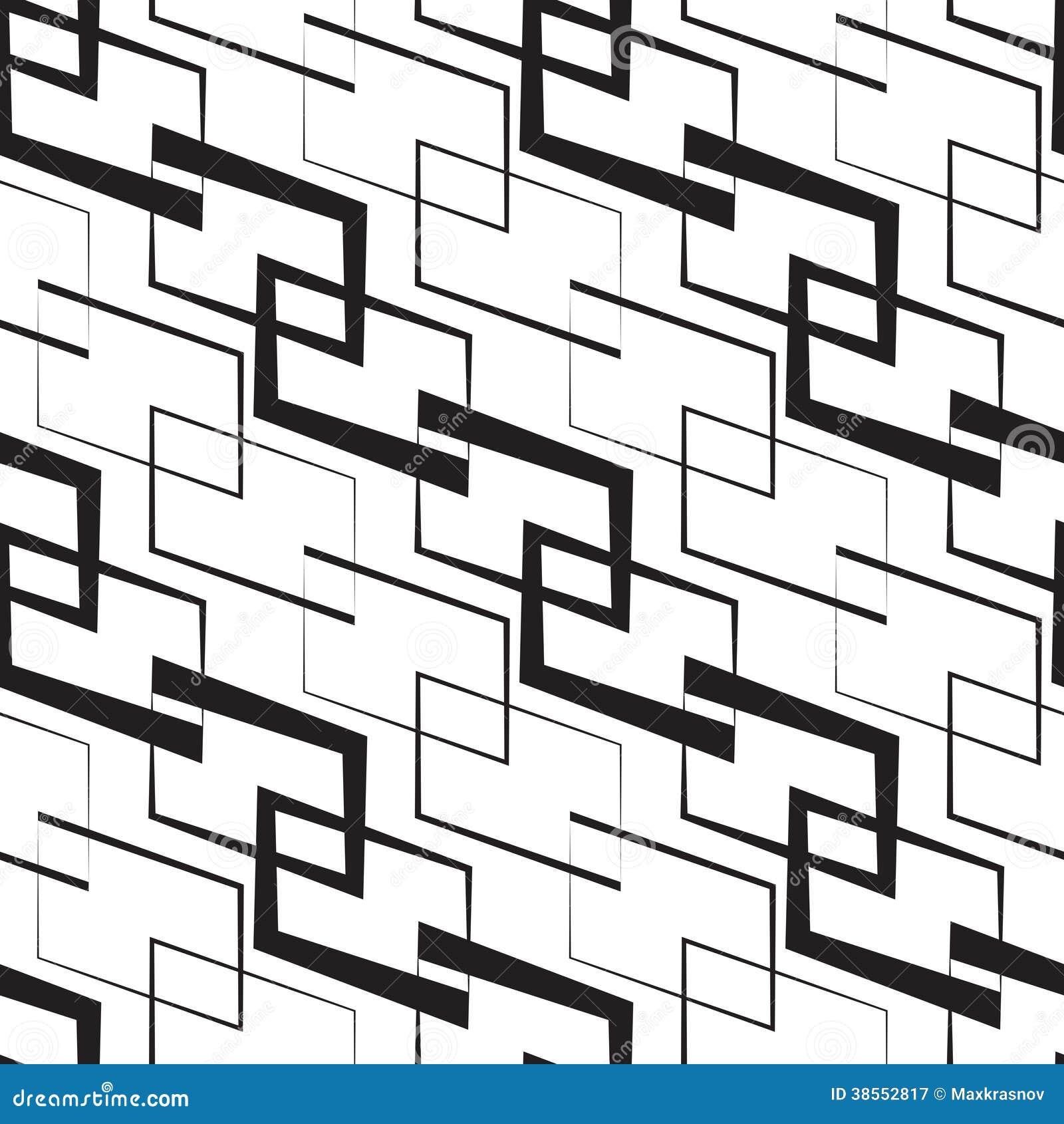 Zwart Wit Geometrisch Behang Royalty Vrije Stock Fotografie Afbeelding