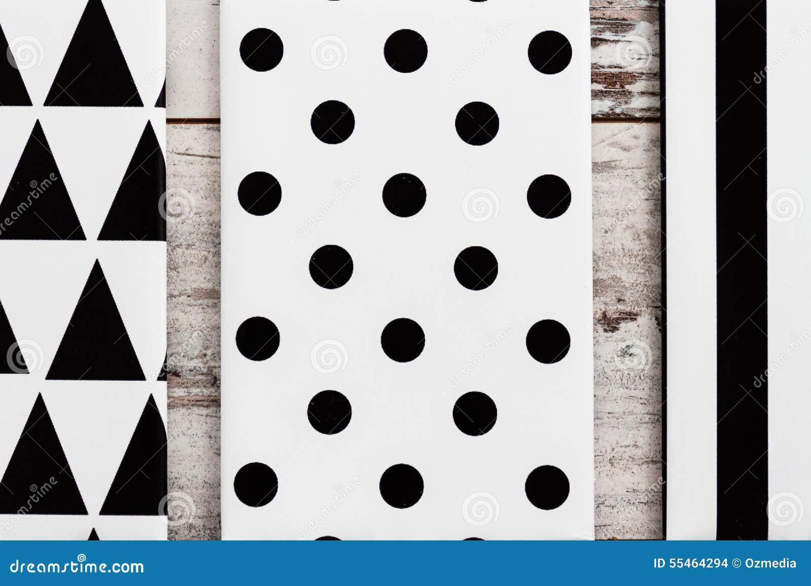 Zwart-wit Geometrisch Canvas