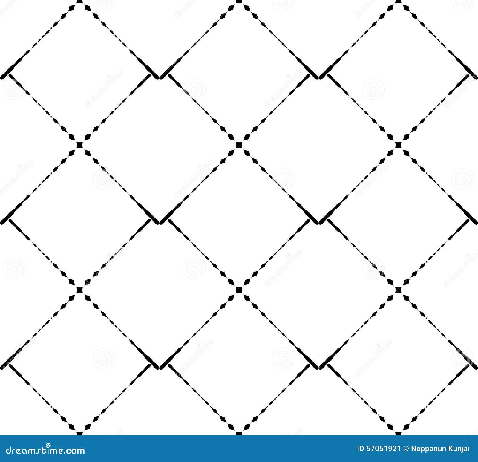 Zwart-wit geometrisch naadloos patroon moderne modieus, samenvatting