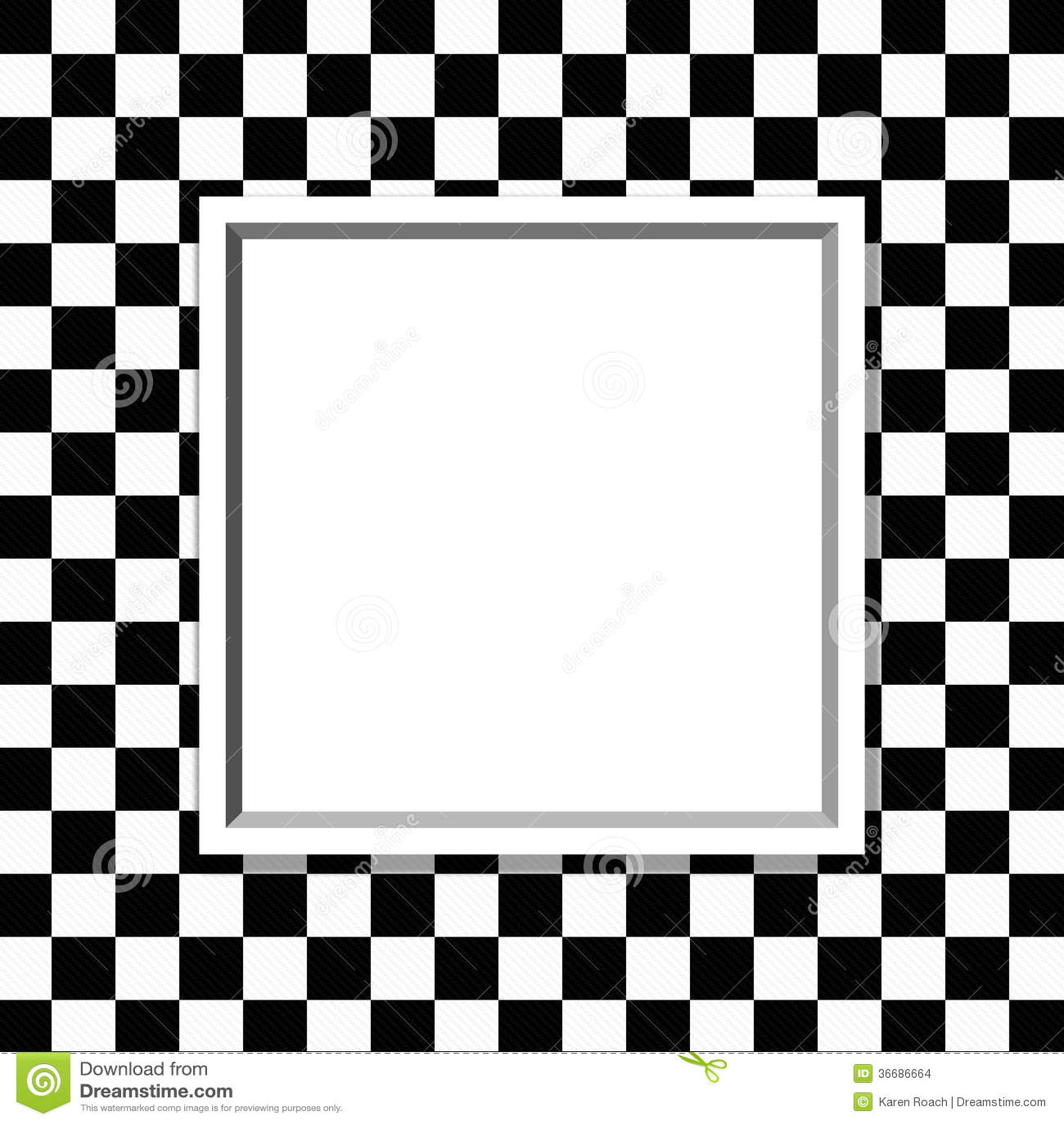 Zwart Wit Geruit Kader Met Kaderachtergrond Stock Foto