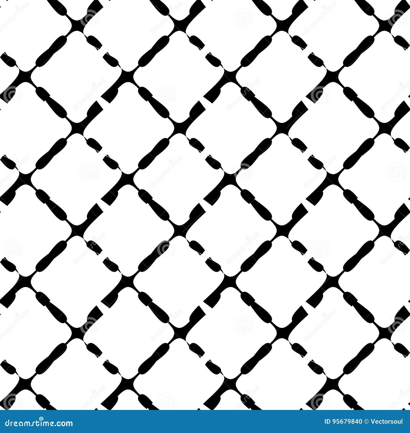 Zwart-wit naadloos geometrisch patroon Herhaalbare textuur/
