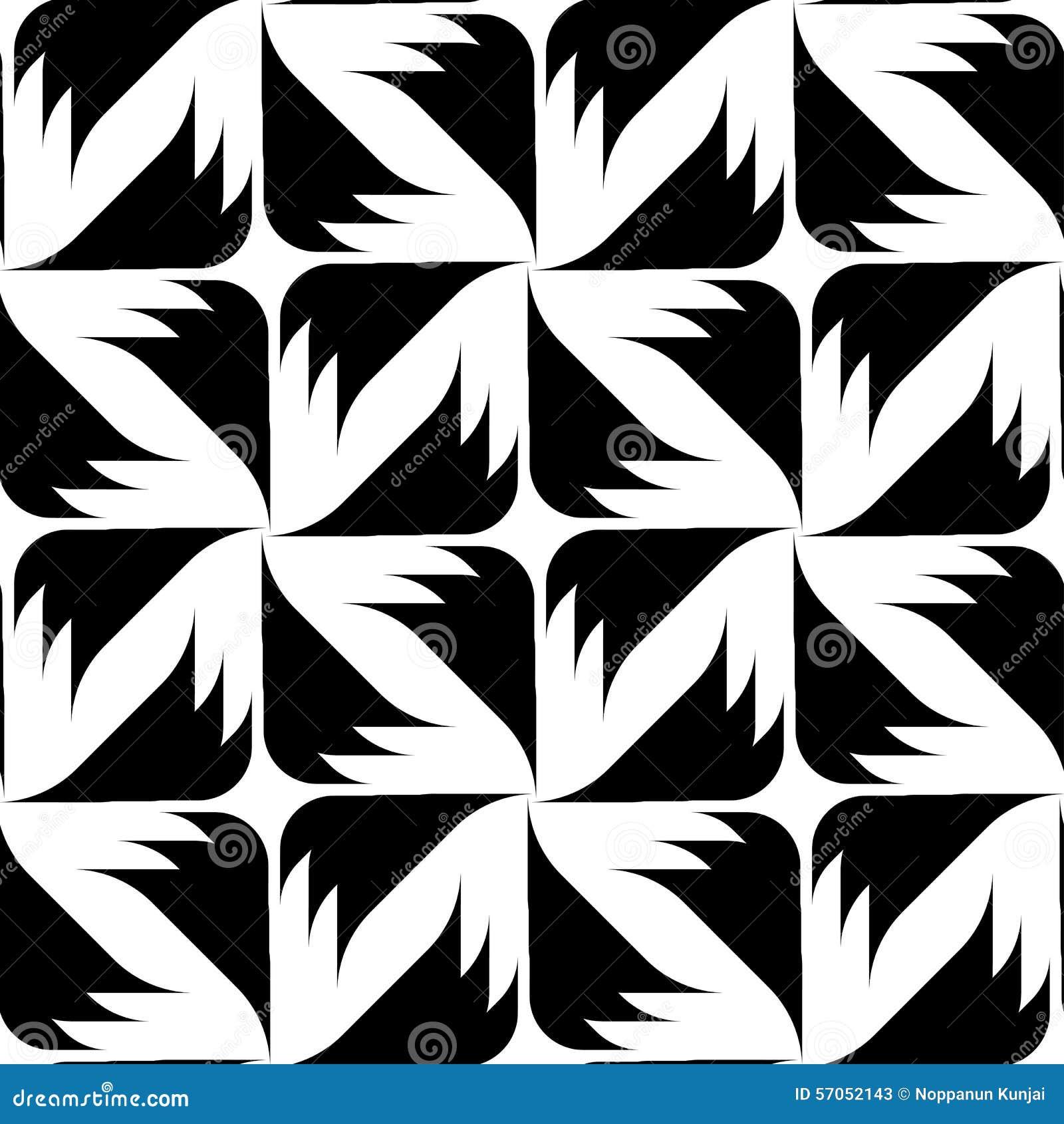 Zwart-wit naadloos patroon, abstracte achtergrond