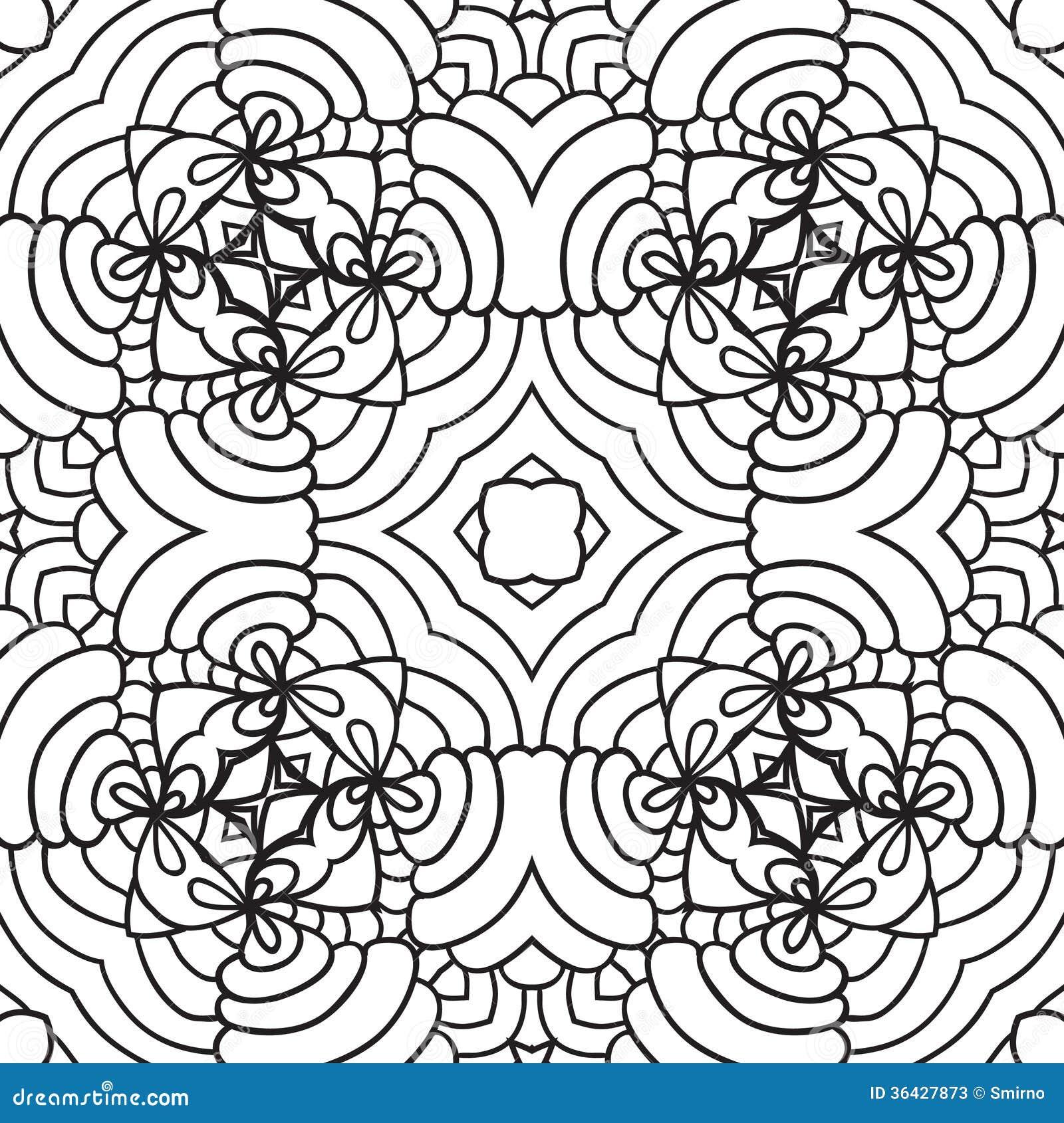 Zwart wit oosters patroon stock foto 39 s afbeelding 36427873 - Oosters stof ...