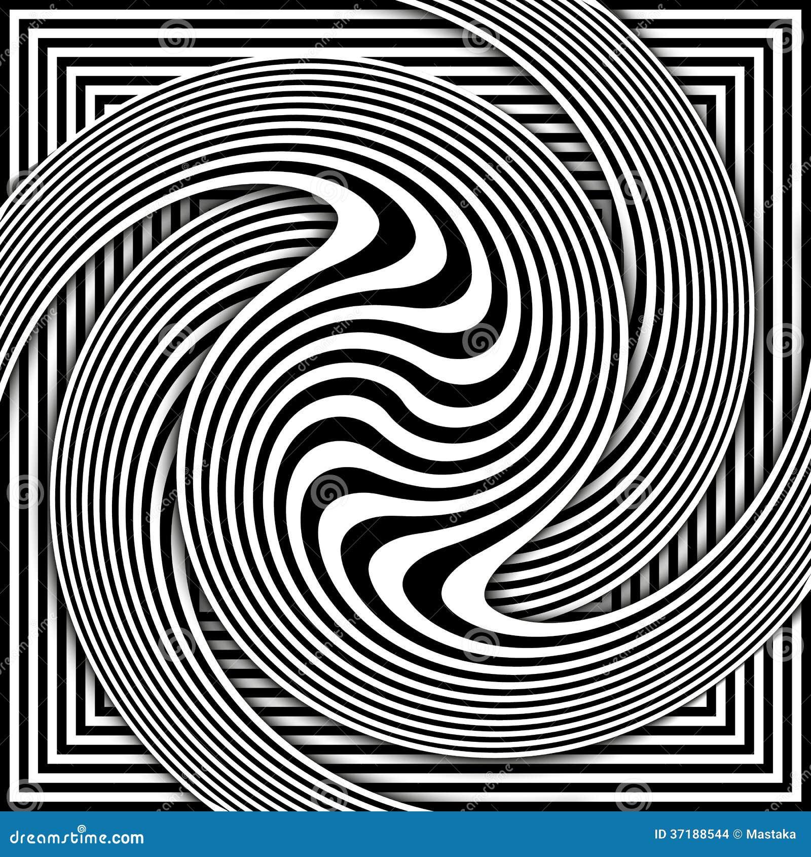 Bedwelming Zwart-wit Opteer Art Background Vector Illustratie - Illustratie @IV52