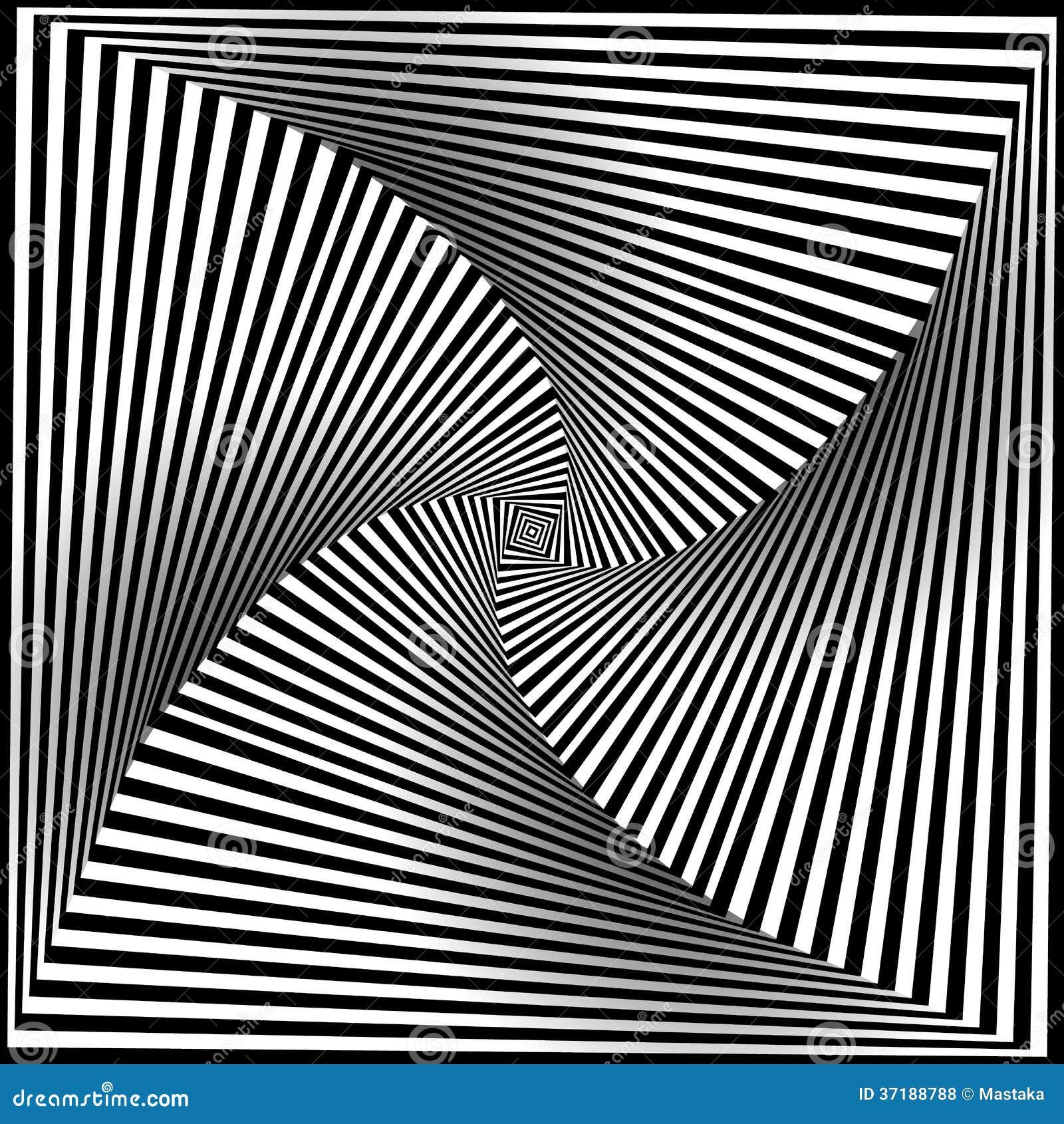 Magnifiek Zwart-wit Opteer Art Background Vector Illustratie - Illustratie @IE56