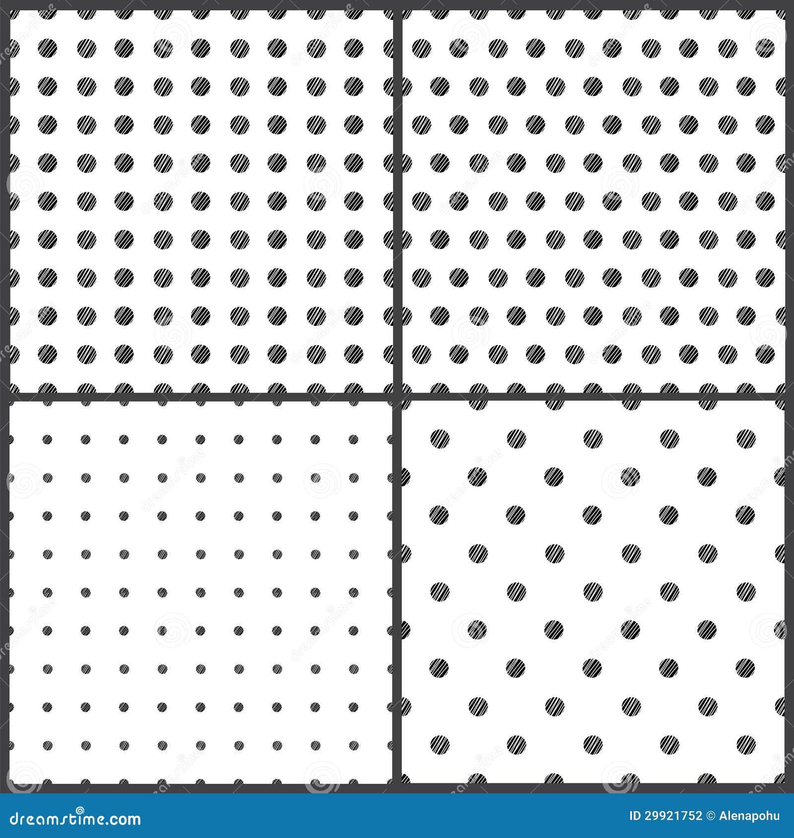 Zwart-wit Stippen Naadloos Patroon Stock Fotografie - Beeld: 29921752