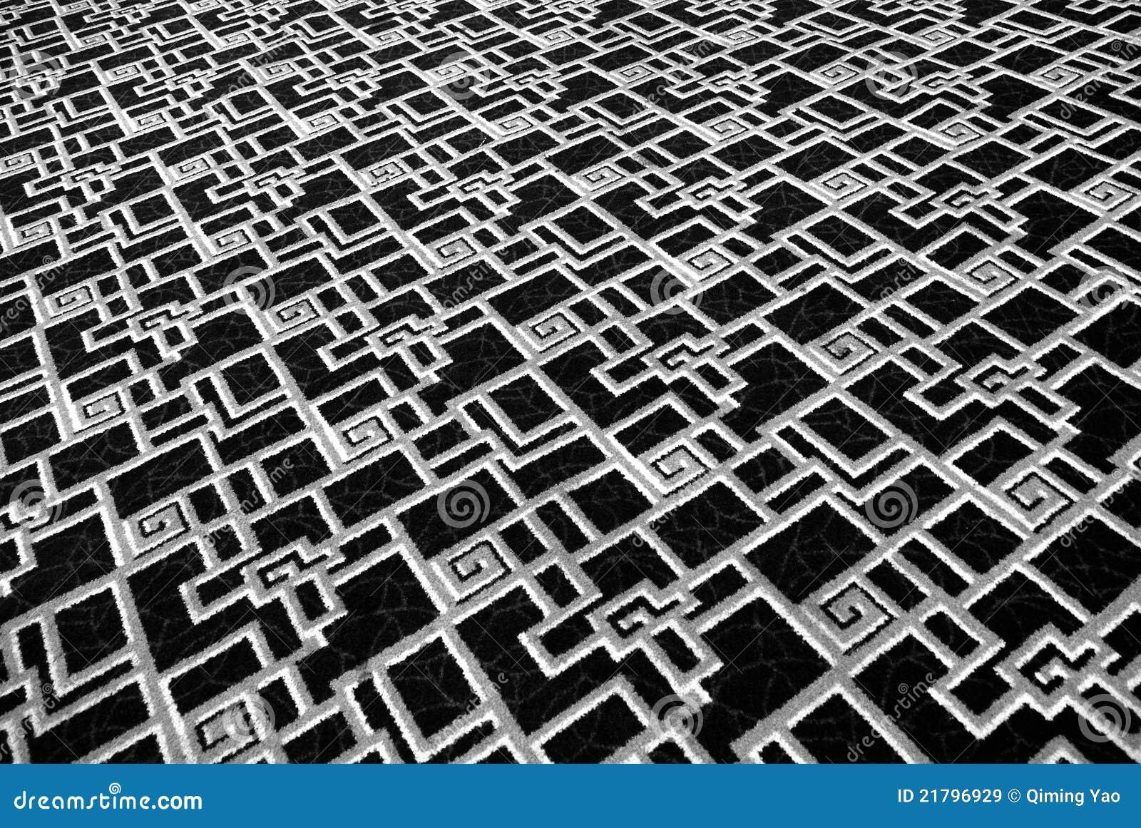 Tapijt Zwart Wit : Zwart wit tapijt stock illustratie illustratie bestaande uit