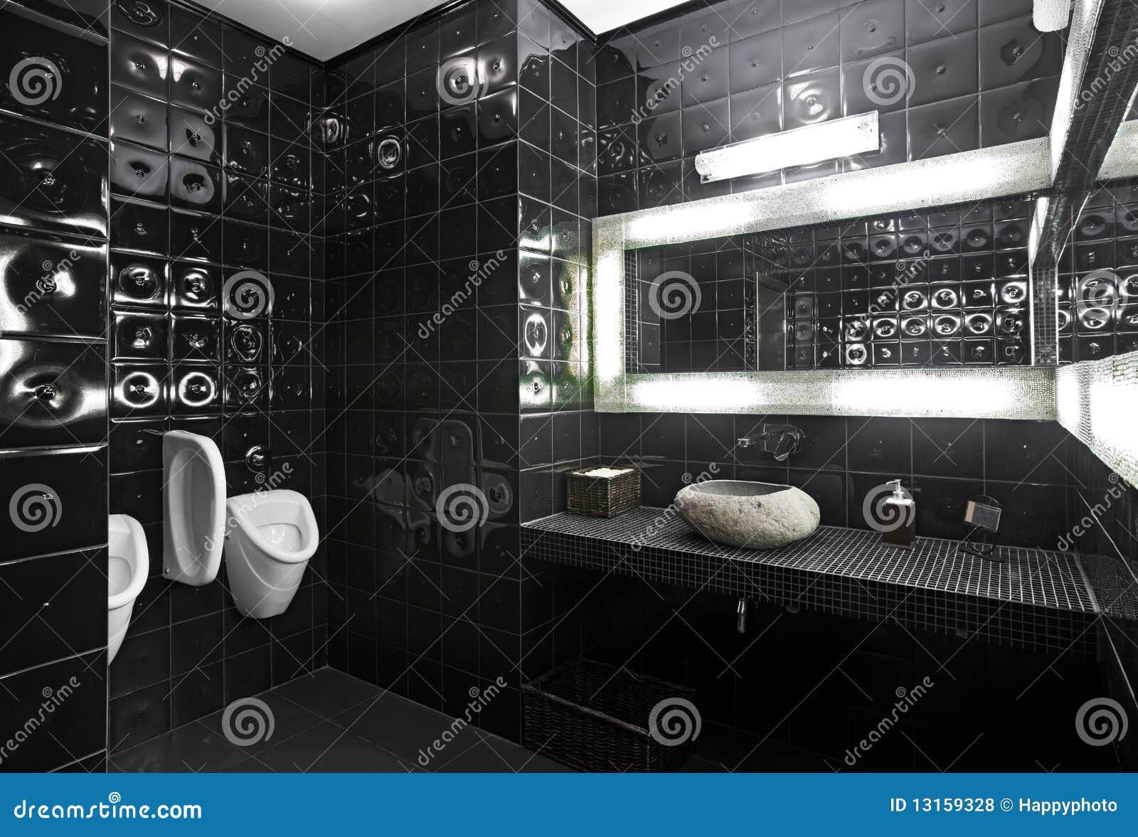 Zwart wit toilet stock foto. afbeelding bestaande uit licht 13159328