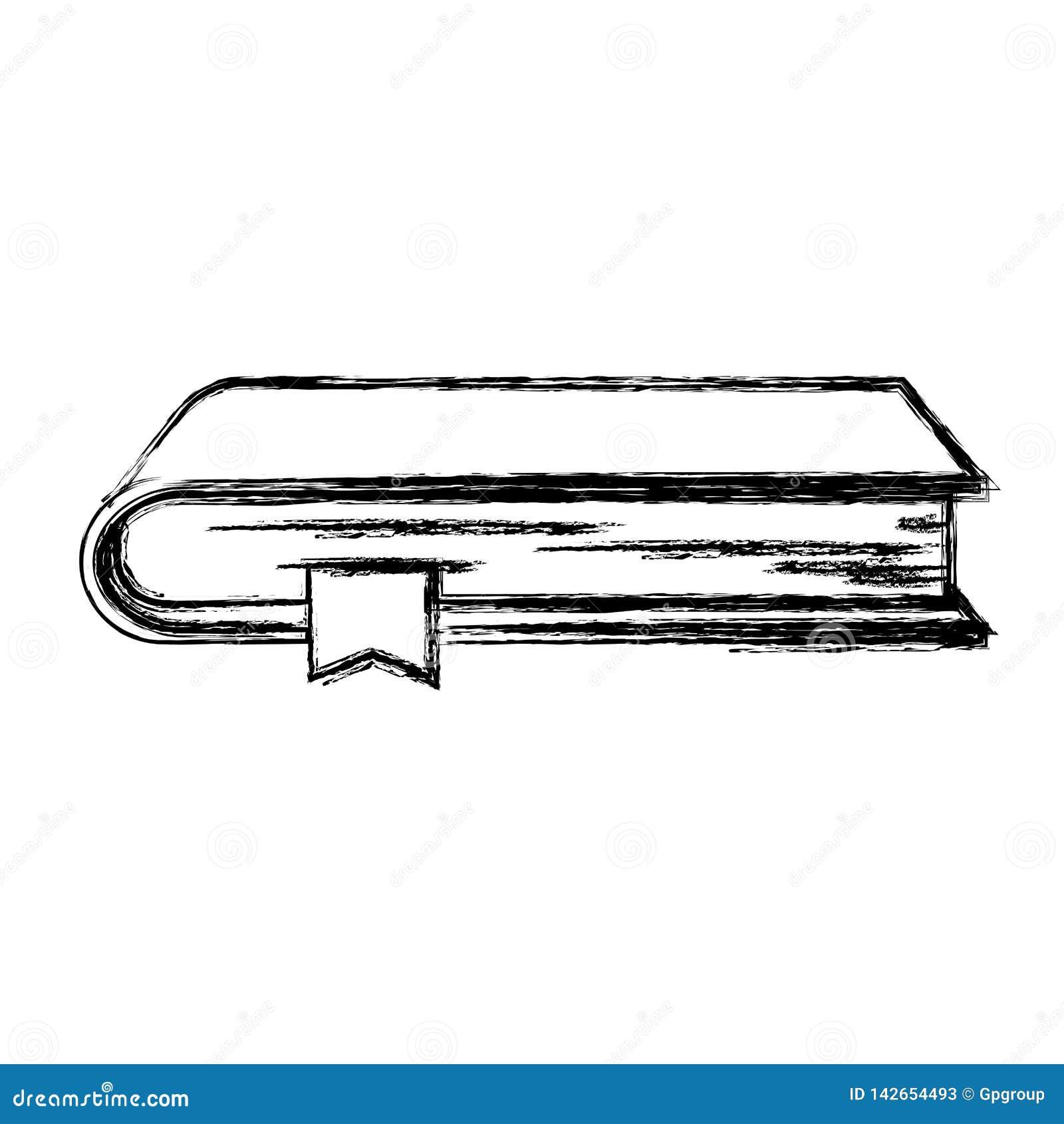 Zwart-wit vaag silhouet van boek met referentie