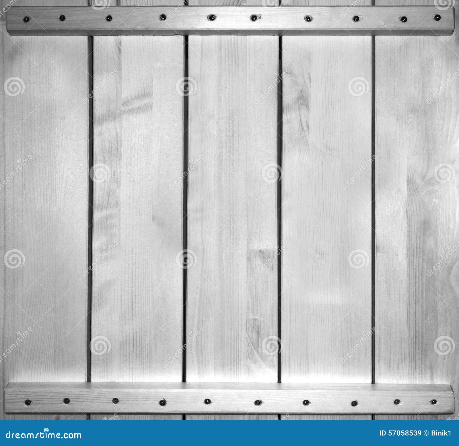 Zwart-witte achtergrond van houten plank