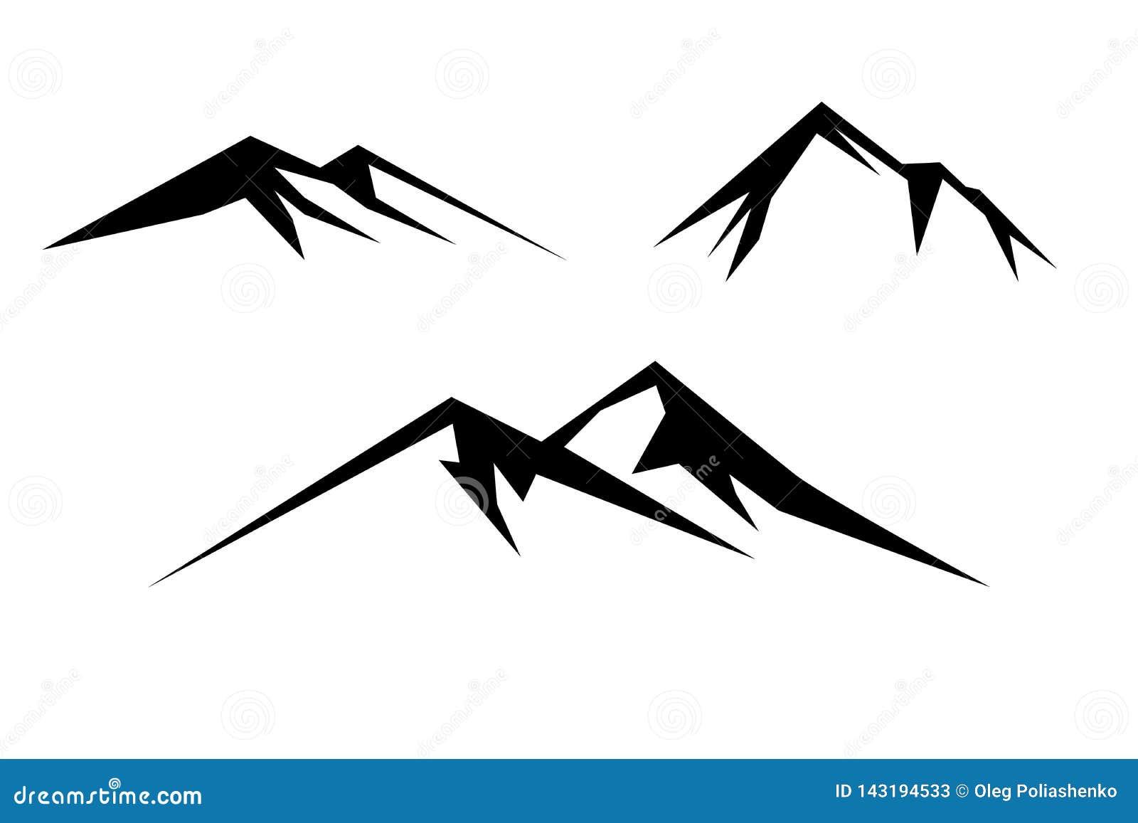 Zwart-witte berg