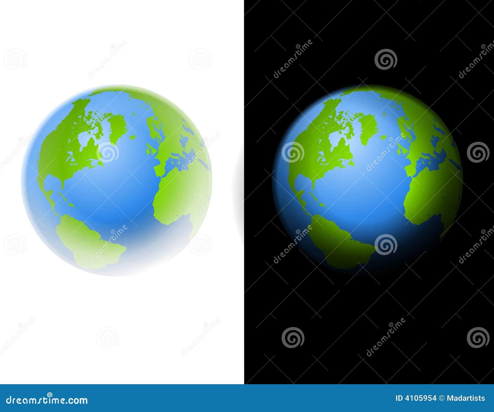 Zwart-witte de Illustratie van de Kunst van de Klem van de aarde