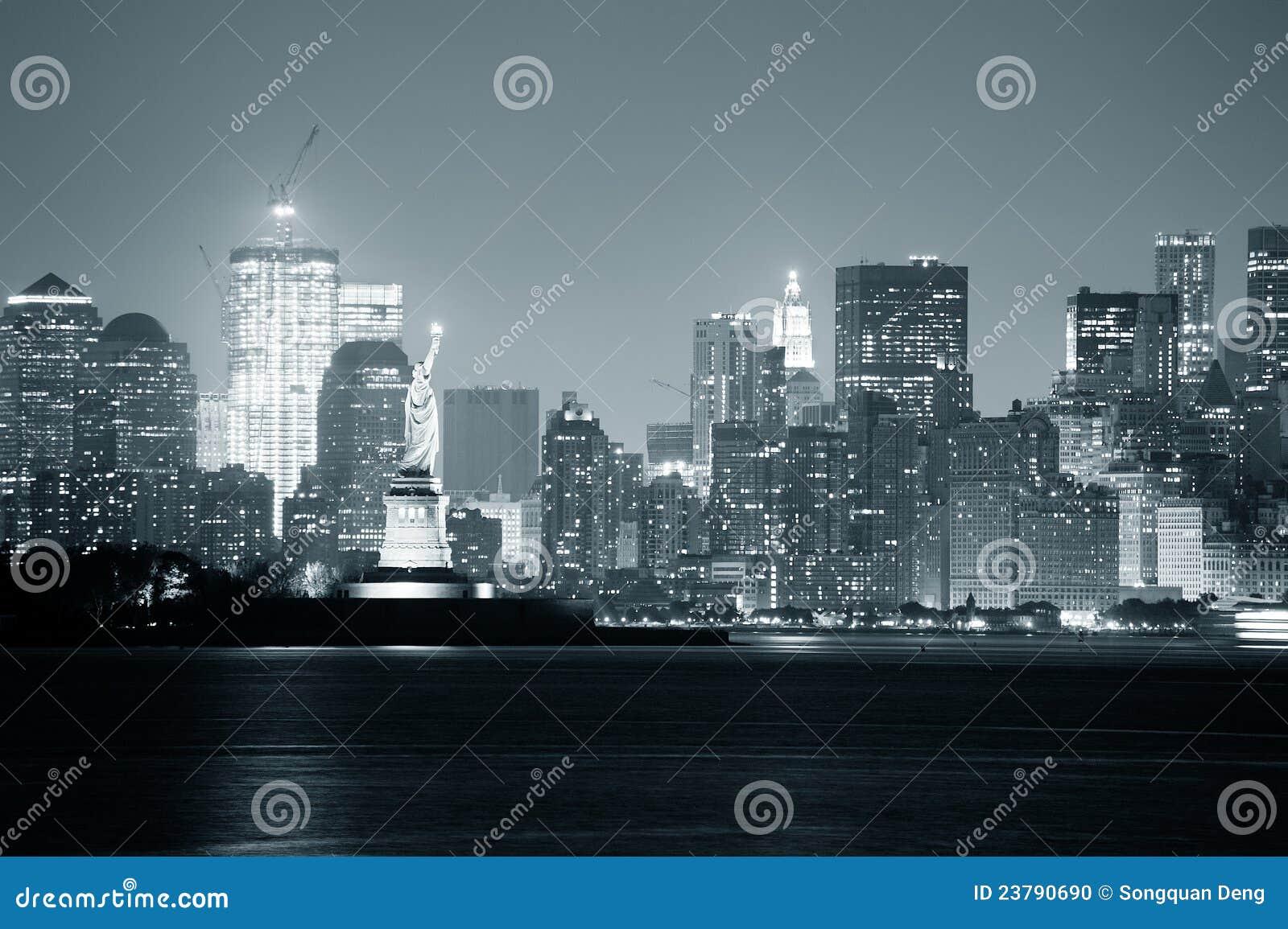 Zwart-witte de Stad van New York