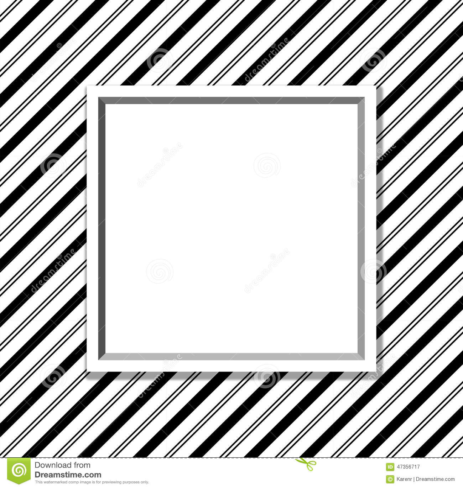 Zwart-witte Gestreepte Achtergrond met Kader
