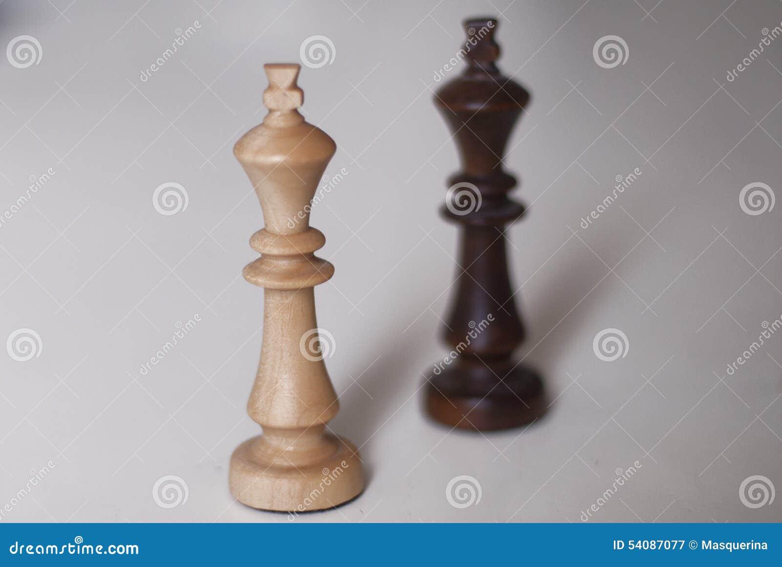 Zwart-witte schaakkoningen