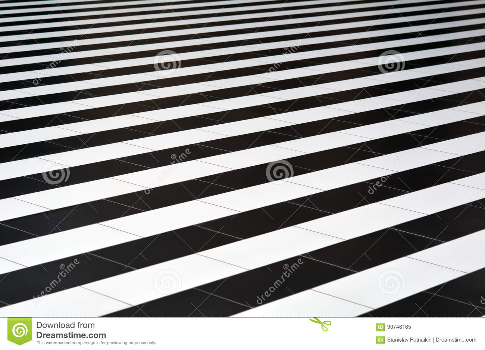 Zwart Witte Tegels : Zwart witte tegels op de vloer stock afbeelding afbeelding