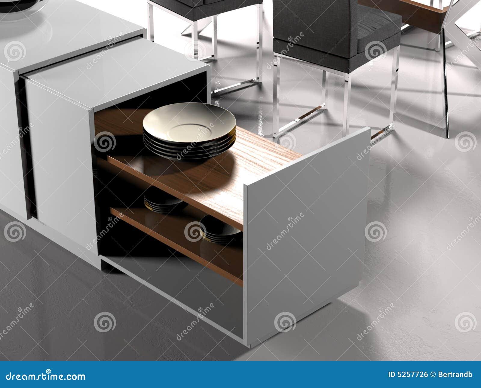 Zwart witte woonkamer detail stock illustratie afbeelding 5257726 - Eigentijdse woonkamer decoratie ...
