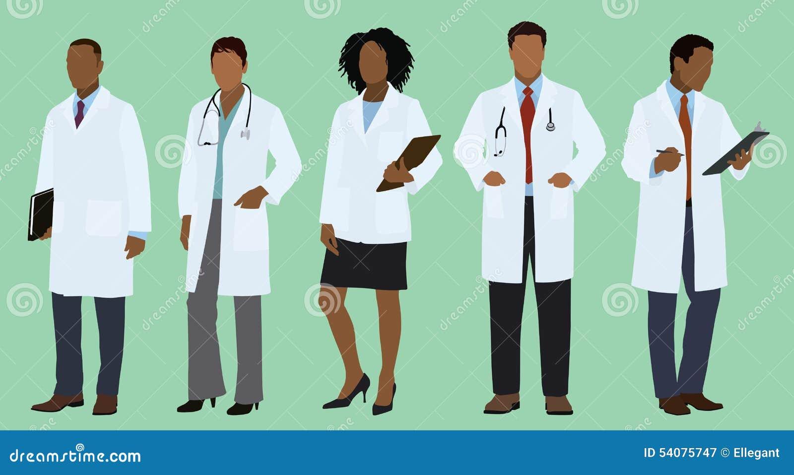 Zwarte of Afrikaanse Artsen in Laboratoriumlagen