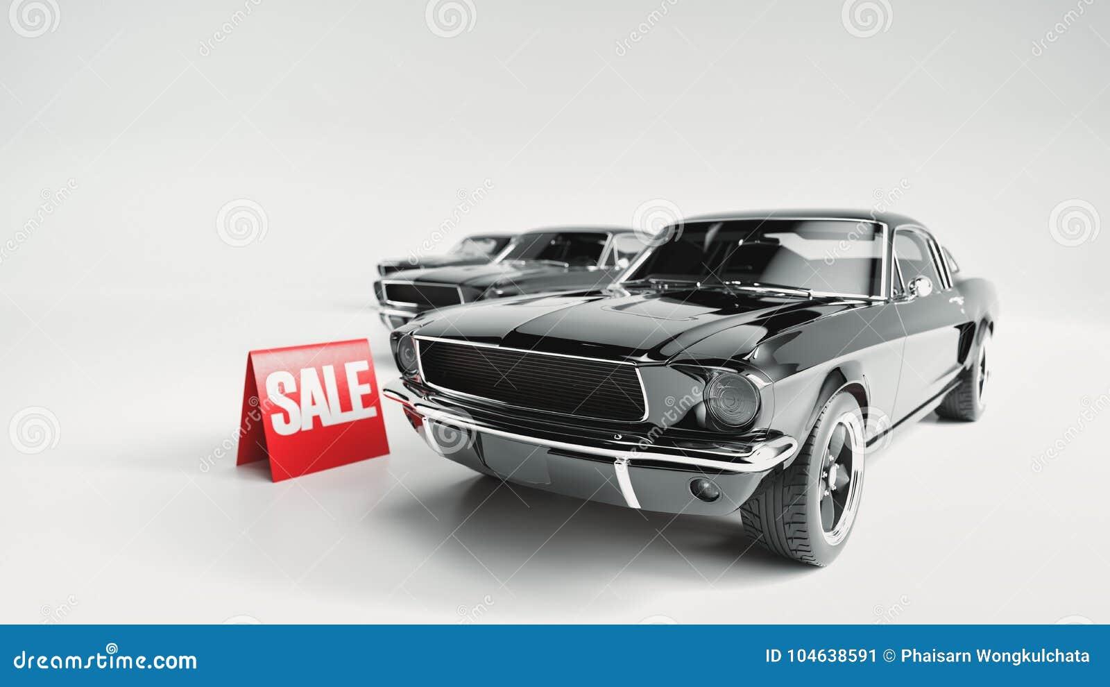 Download Zwarte Auto En Aanplakbordverkoop Stock Illustratie - Illustratie bestaande uit aankoop, velen: 104638591