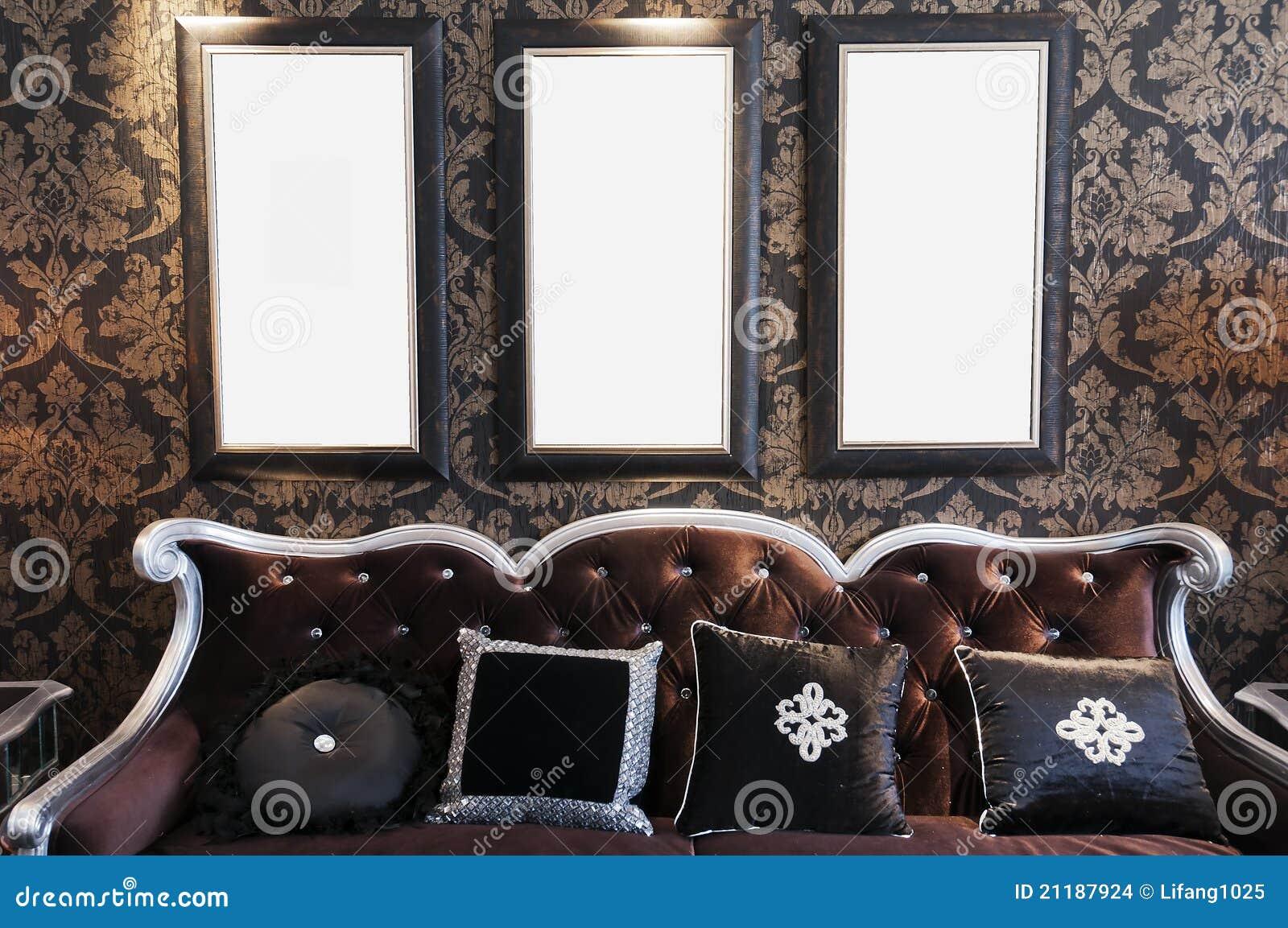 Zwarte Bank Op Zwarte Muur Stock Afbeeldingen - Afbeelding: 21187924