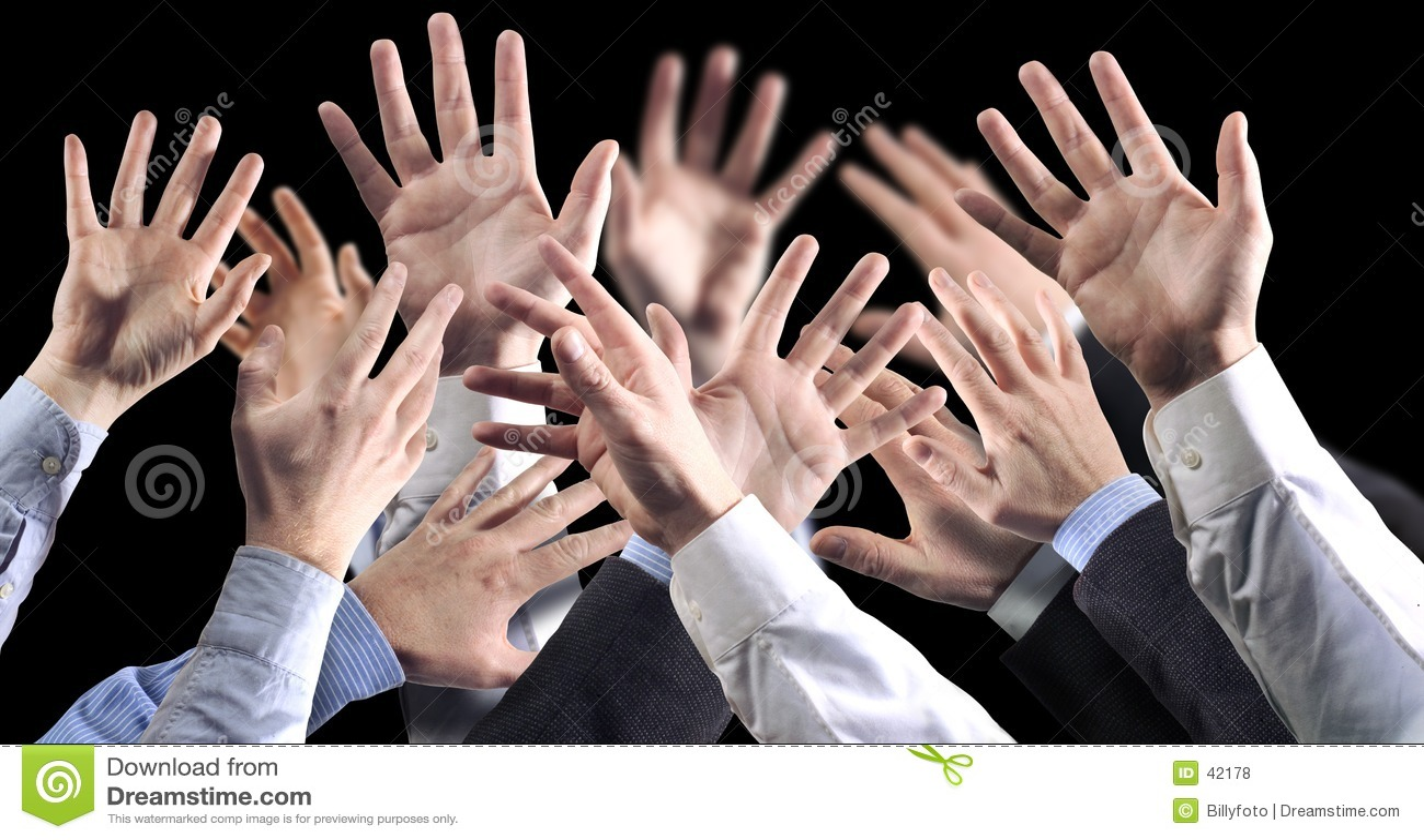 Zwarte bground van handen