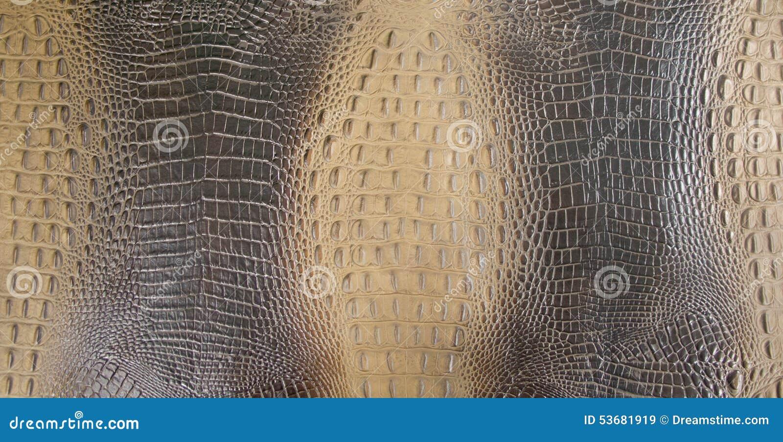 Zwarte/Bruine Gekleurde In reliëf gemaakte Achter het Leertextuur van Gator