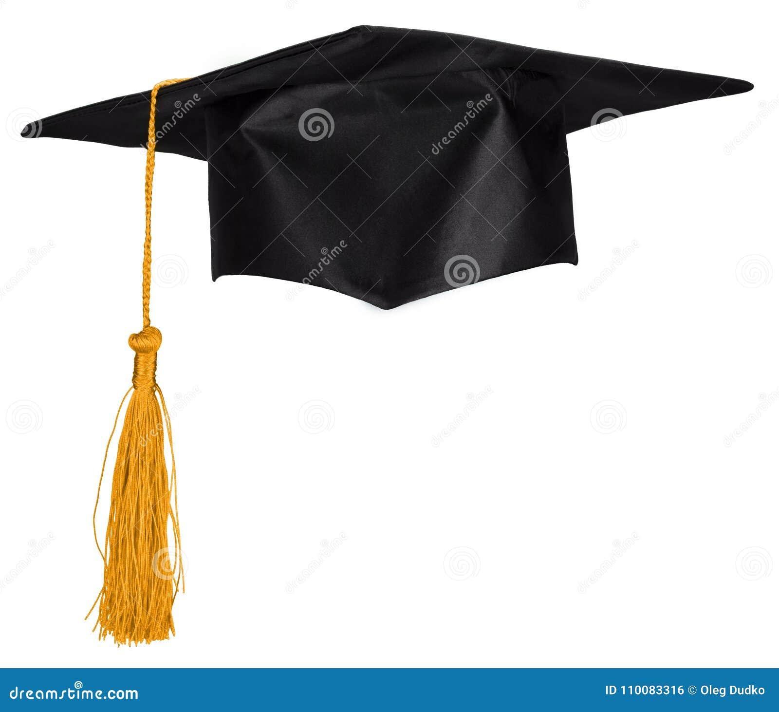 Zwarte die Graduatie GLB op Witte Achtergrond wordt geïsoleerd