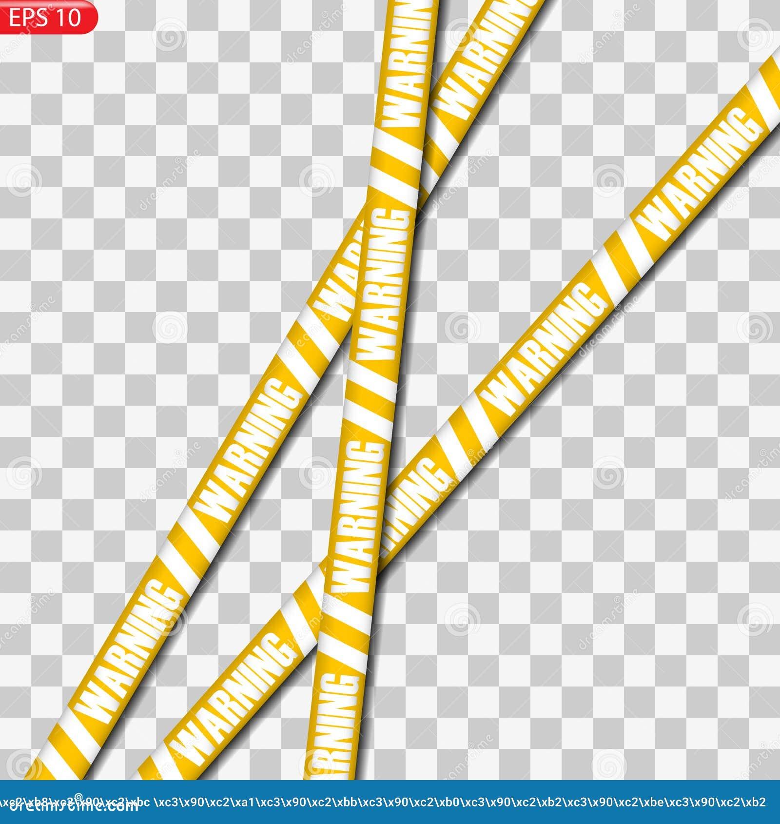Zwarte en gele geïsoleerde voorzichtigheidslijnen