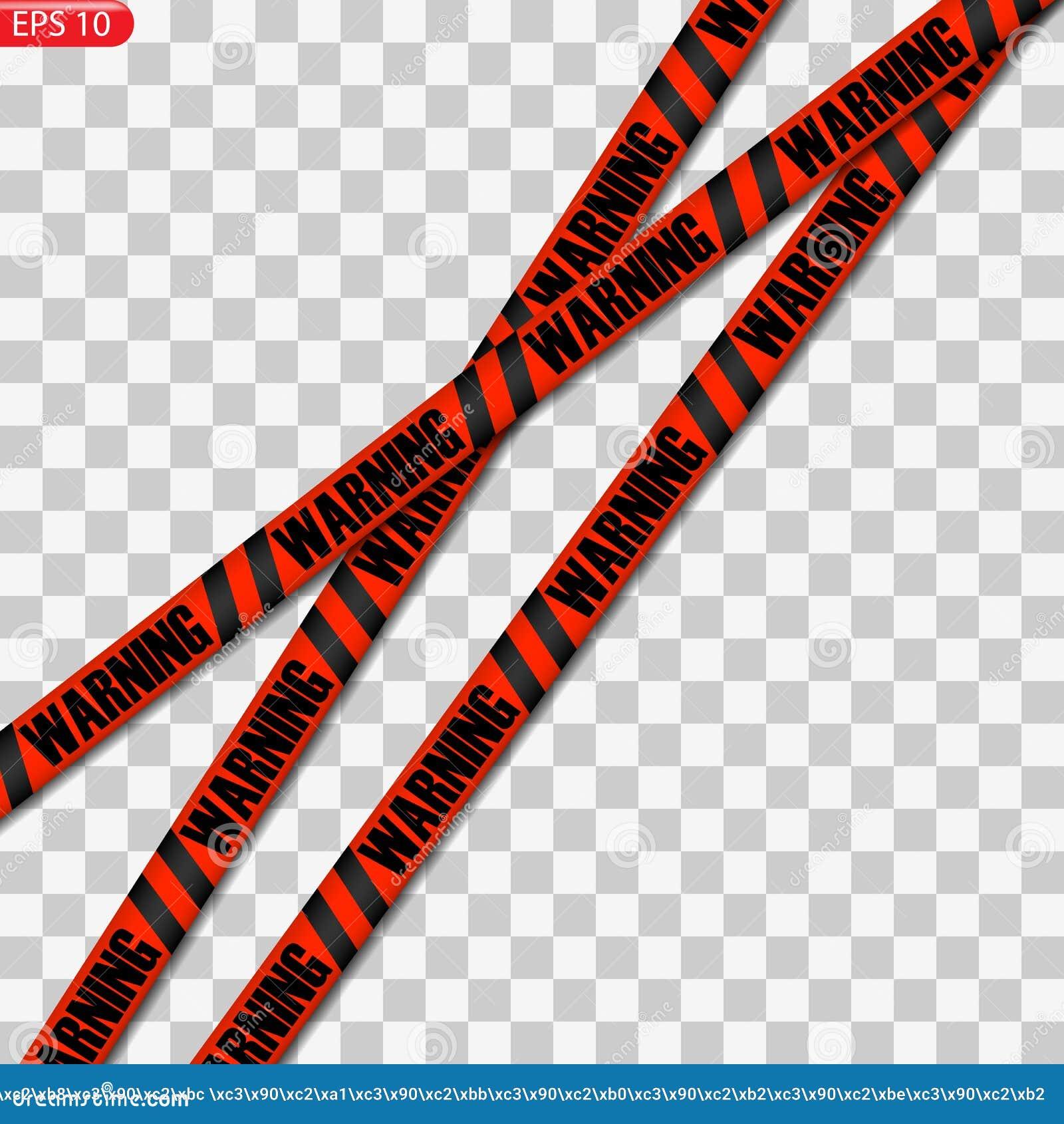 Zwarte en gele en rode geïsoleerde voorzichtigheidslijnen