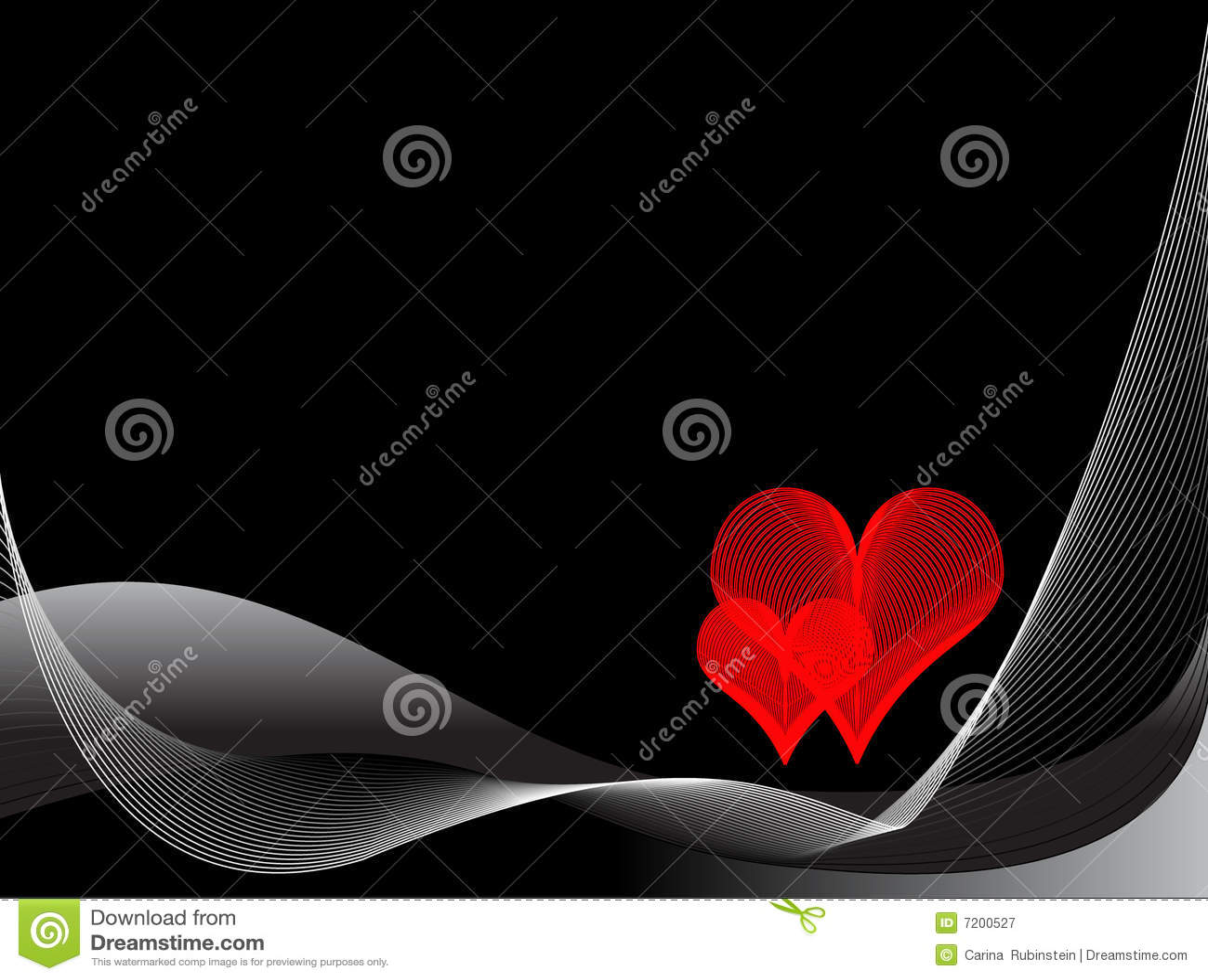 Zwarte en rode liefdeachtergrond