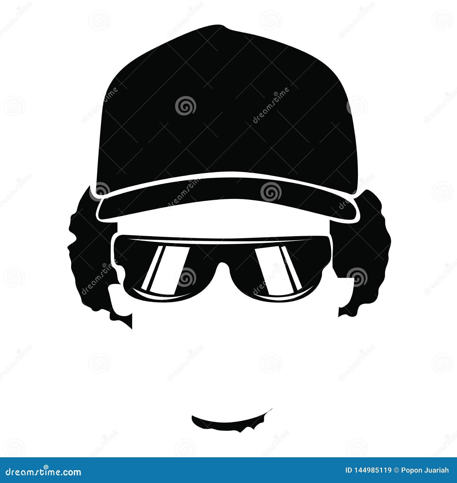 Zwarte gezichtsmensen met oogglas