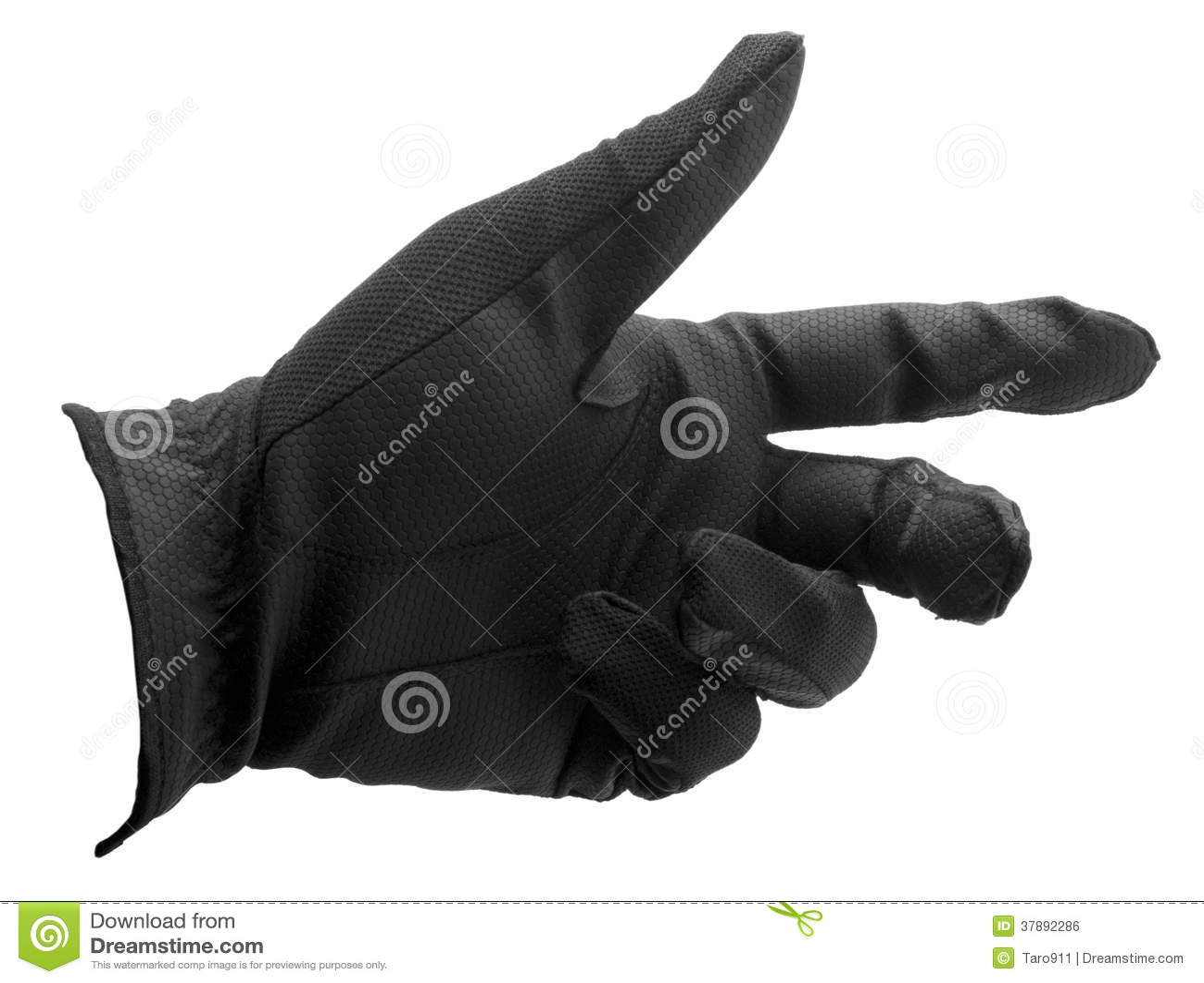 Zwarte golfhandschoen