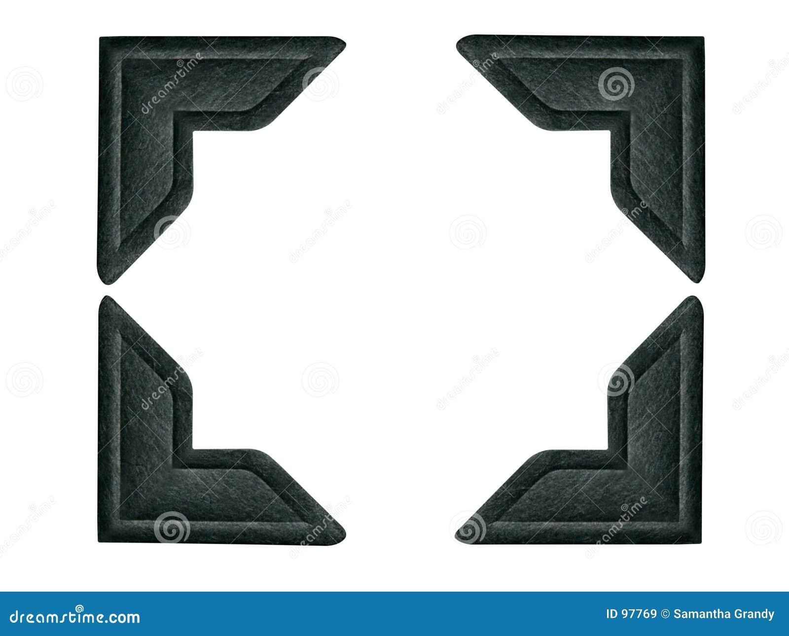 Zwarte Hoeken 1 van de Foto (weg inbegrepen voor elke hoek)