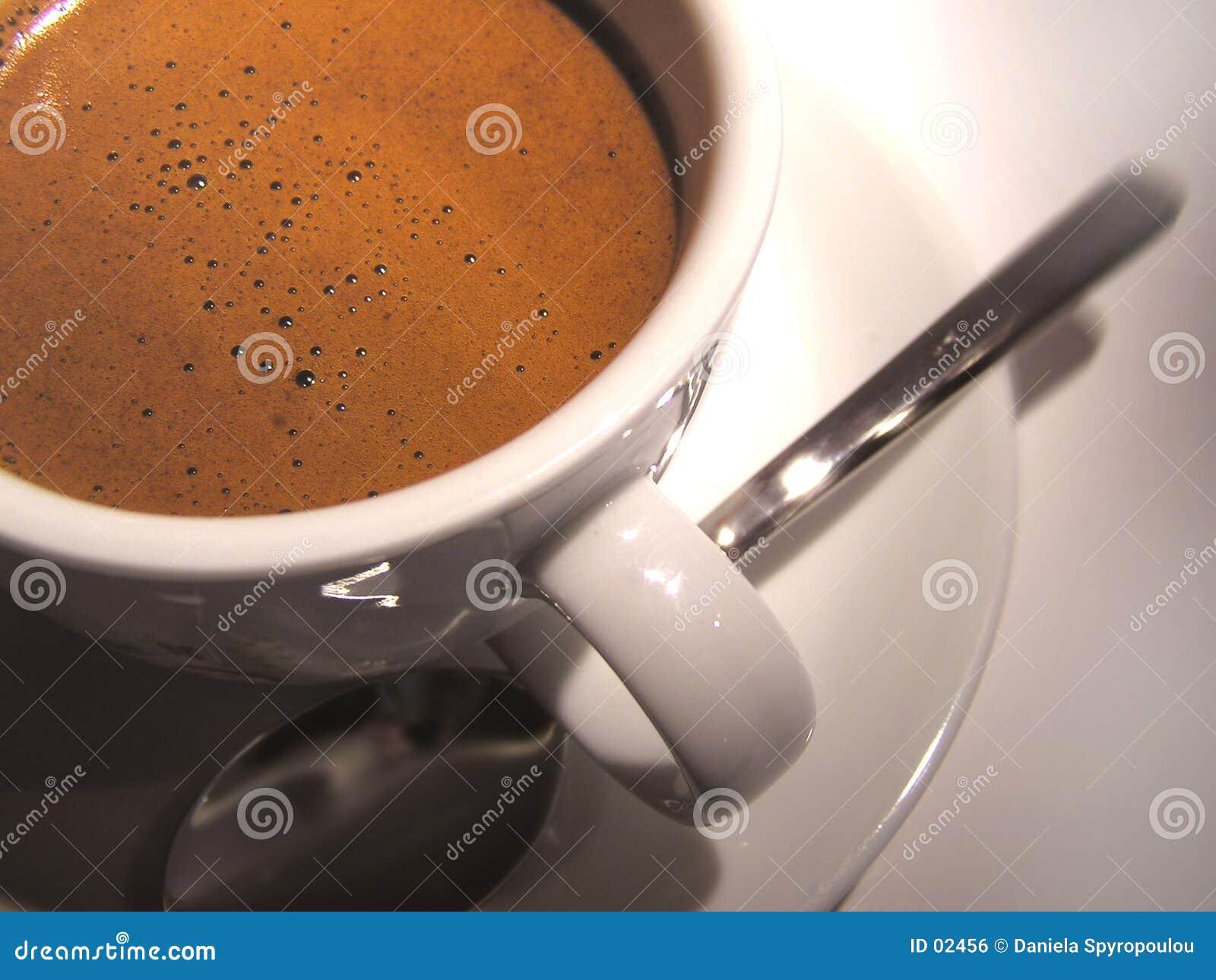 Download Zwarte koffie stock foto. Afbeelding bestaande uit porselein - 2456