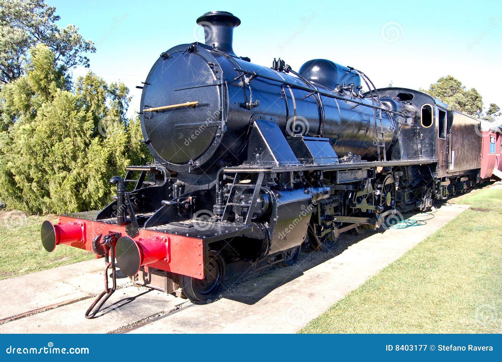 Zwarte locomotief