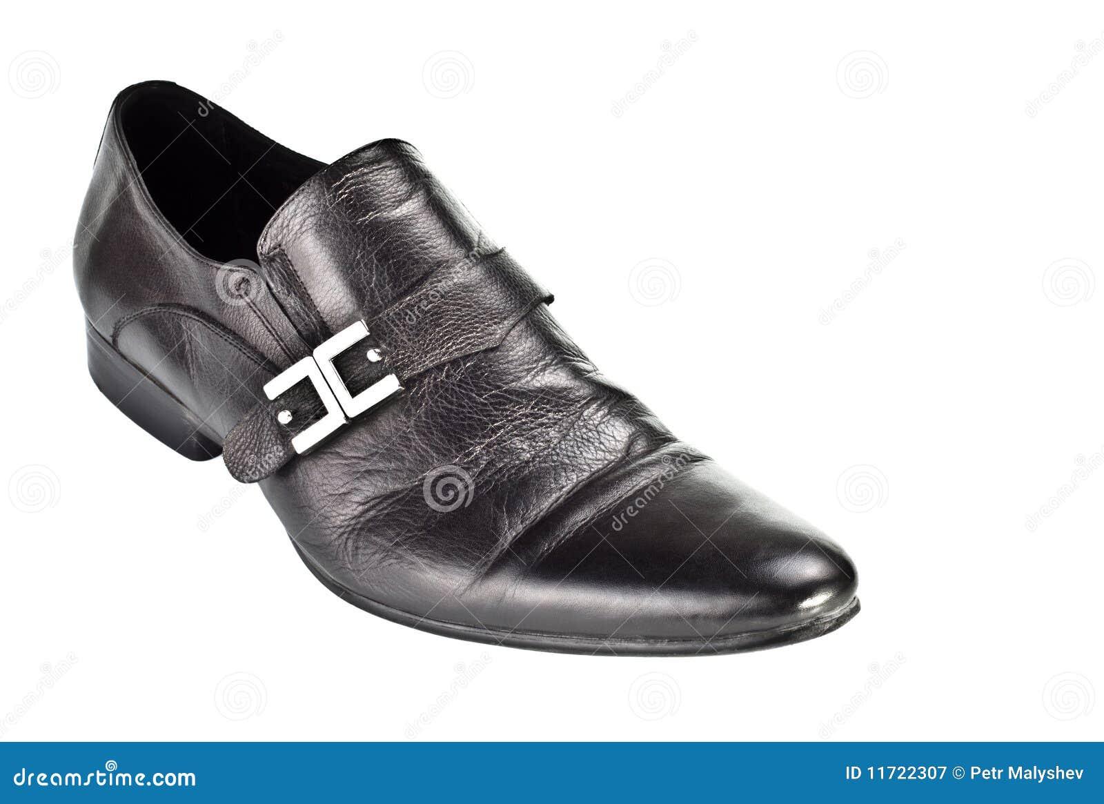 Zwarte mannelijke schoen met gesp