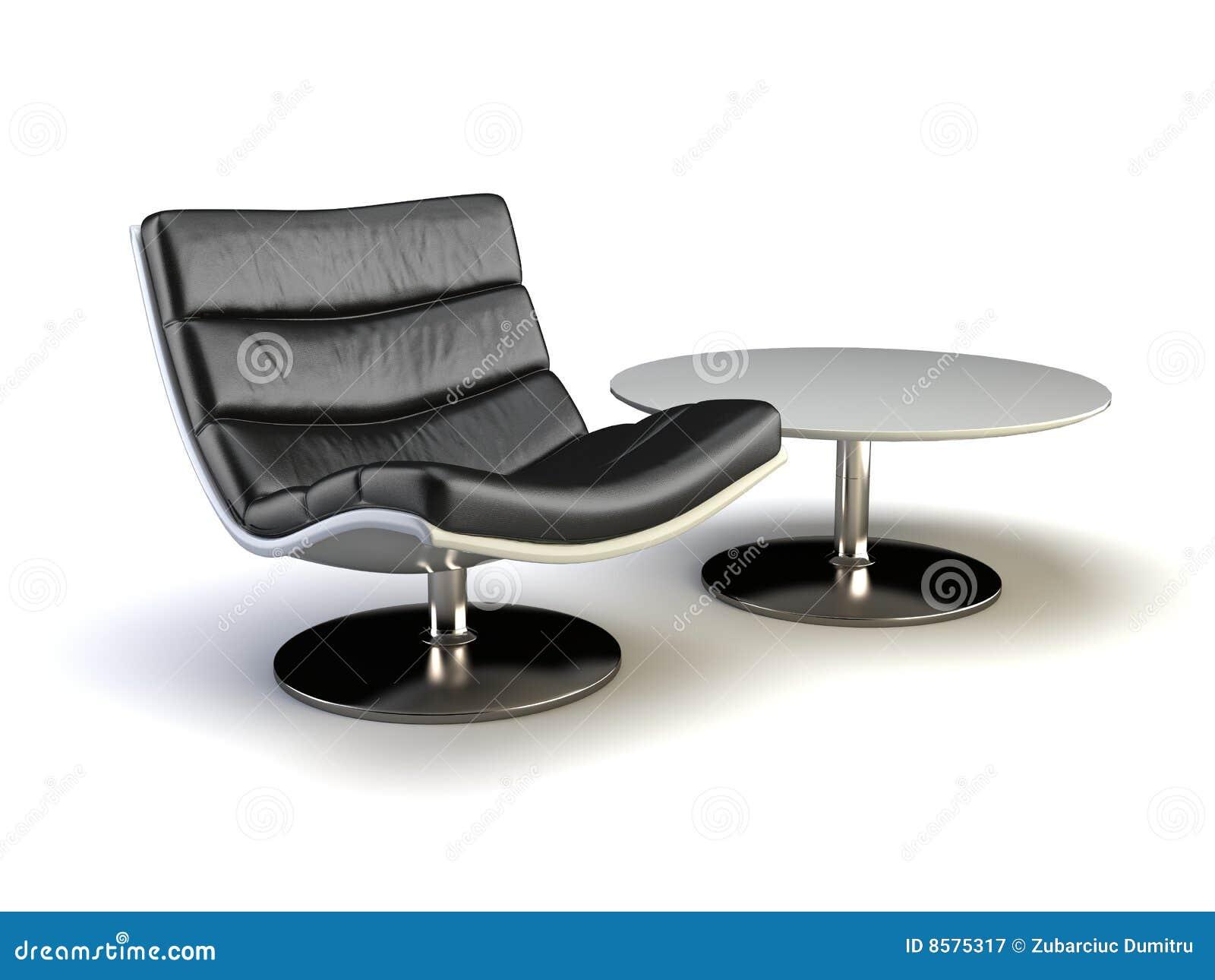 Zwarte moderne stoel stock illustratie afbeelding bestaande uit leer 8575317 - Moderne stoel ...