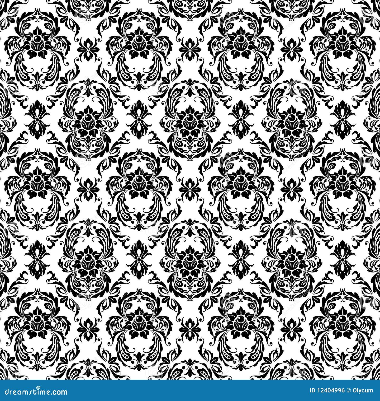 Zwarte patronen royalty vrije stock afbeelding
