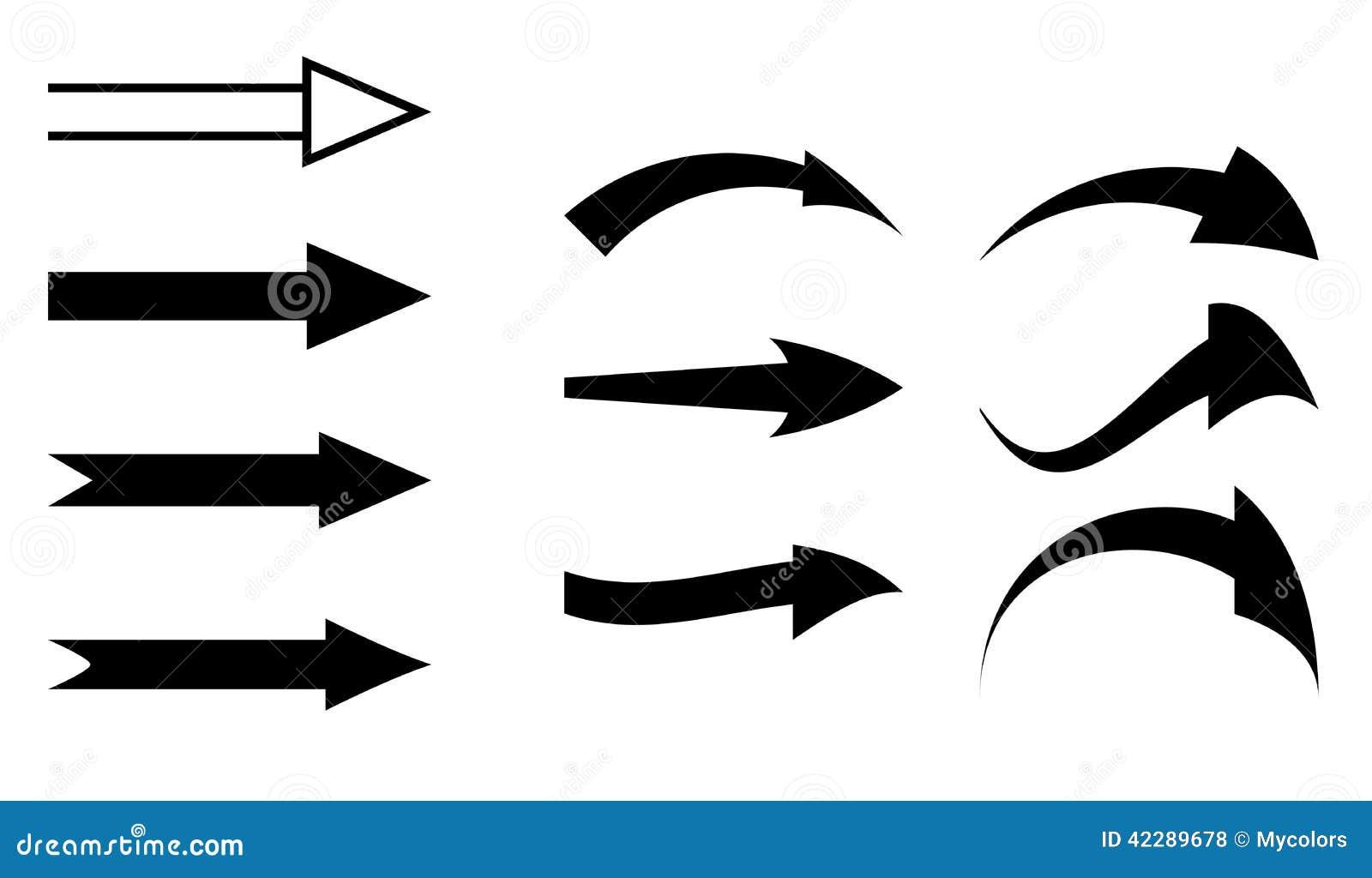Zwarte pijlen - reeks elementen