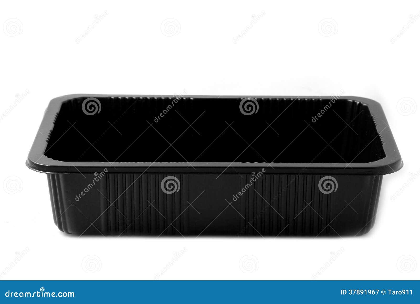 Zwarte plastic container