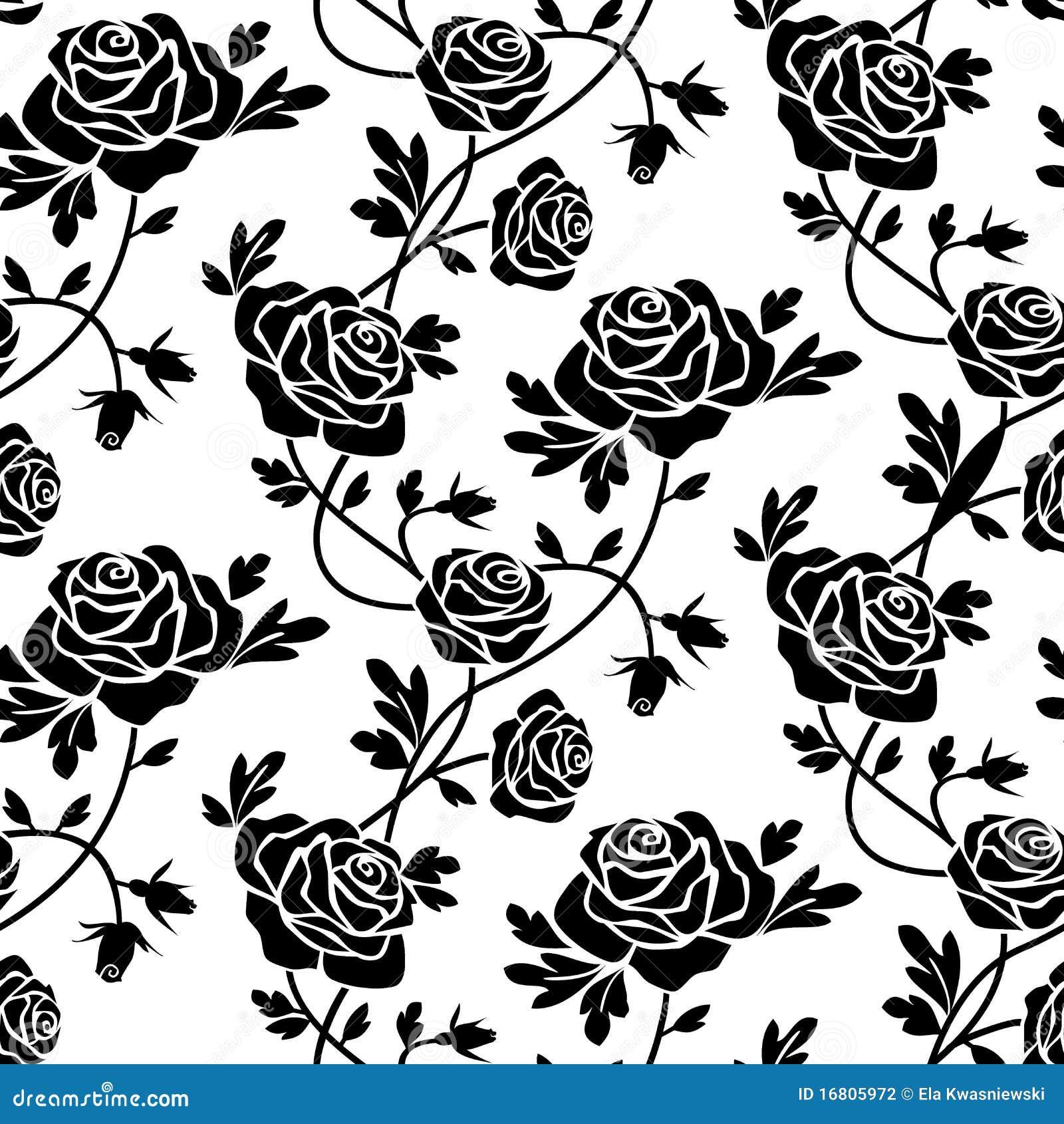 zwarte rozen bij wit 16805972 - Rozen Behang