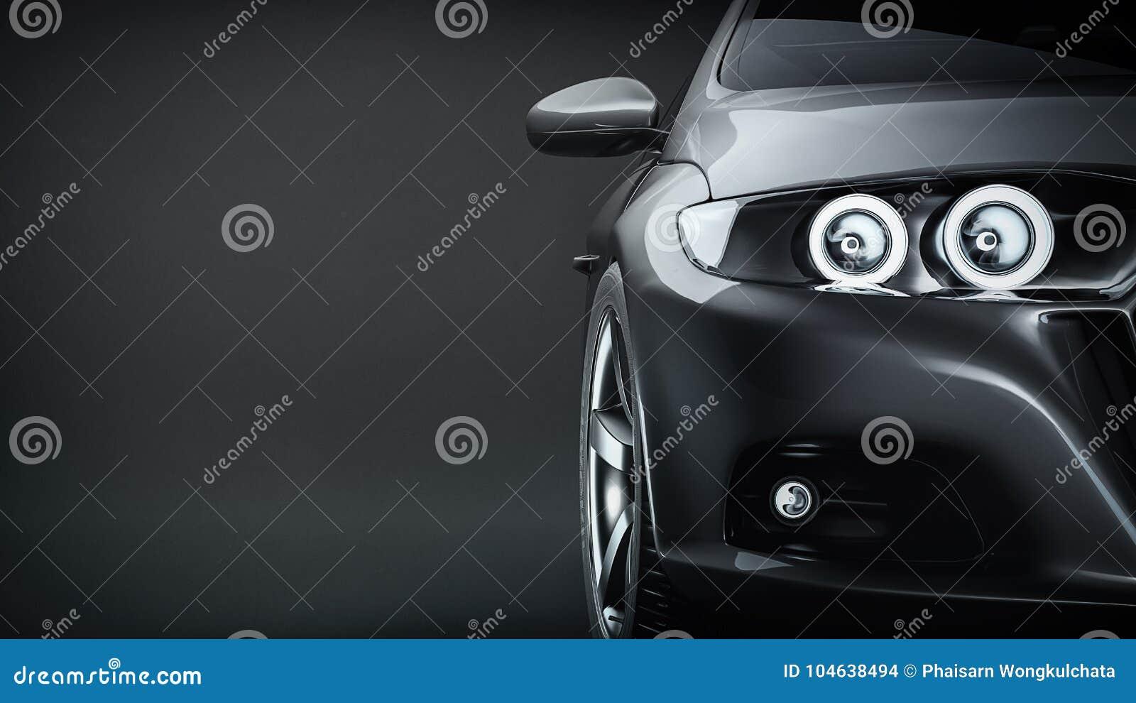 Download Zwarte Sportwagen stock illustratie. Illustratie bestaande uit detail - 104638494