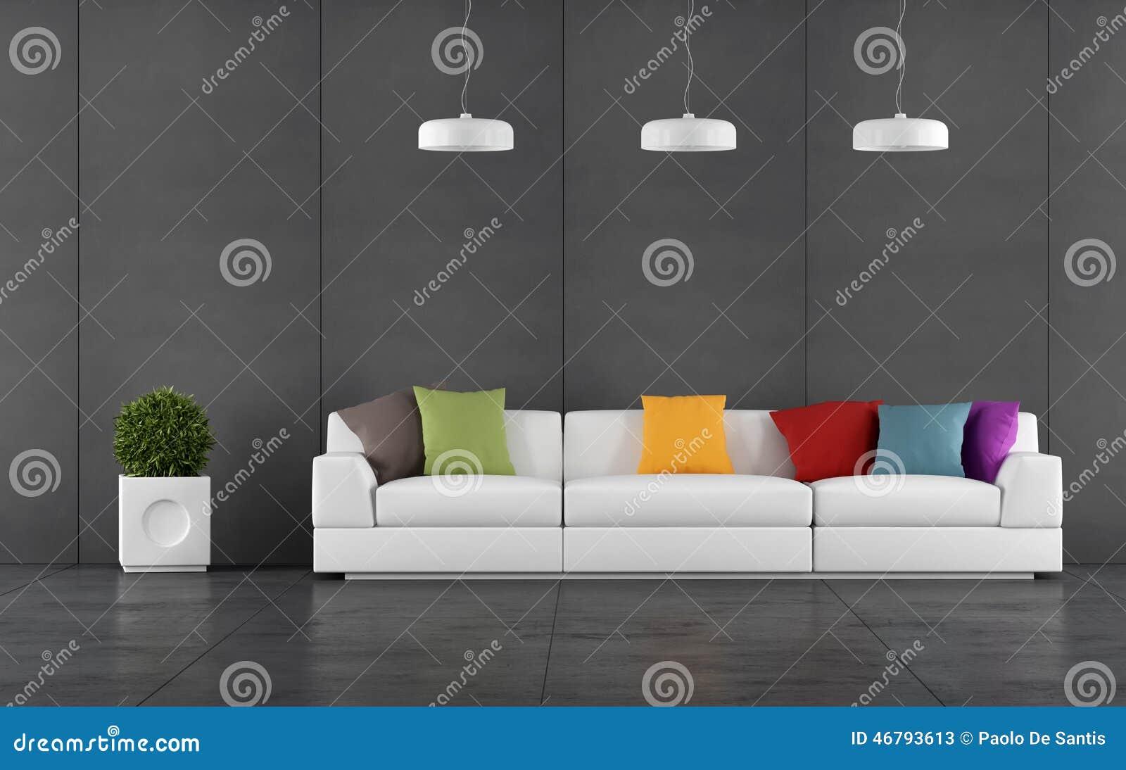 Zwarte Woonkamer Met Muurbord Het Met Panelen Bekleden Stock Illustratie   Afbeelding  46793613