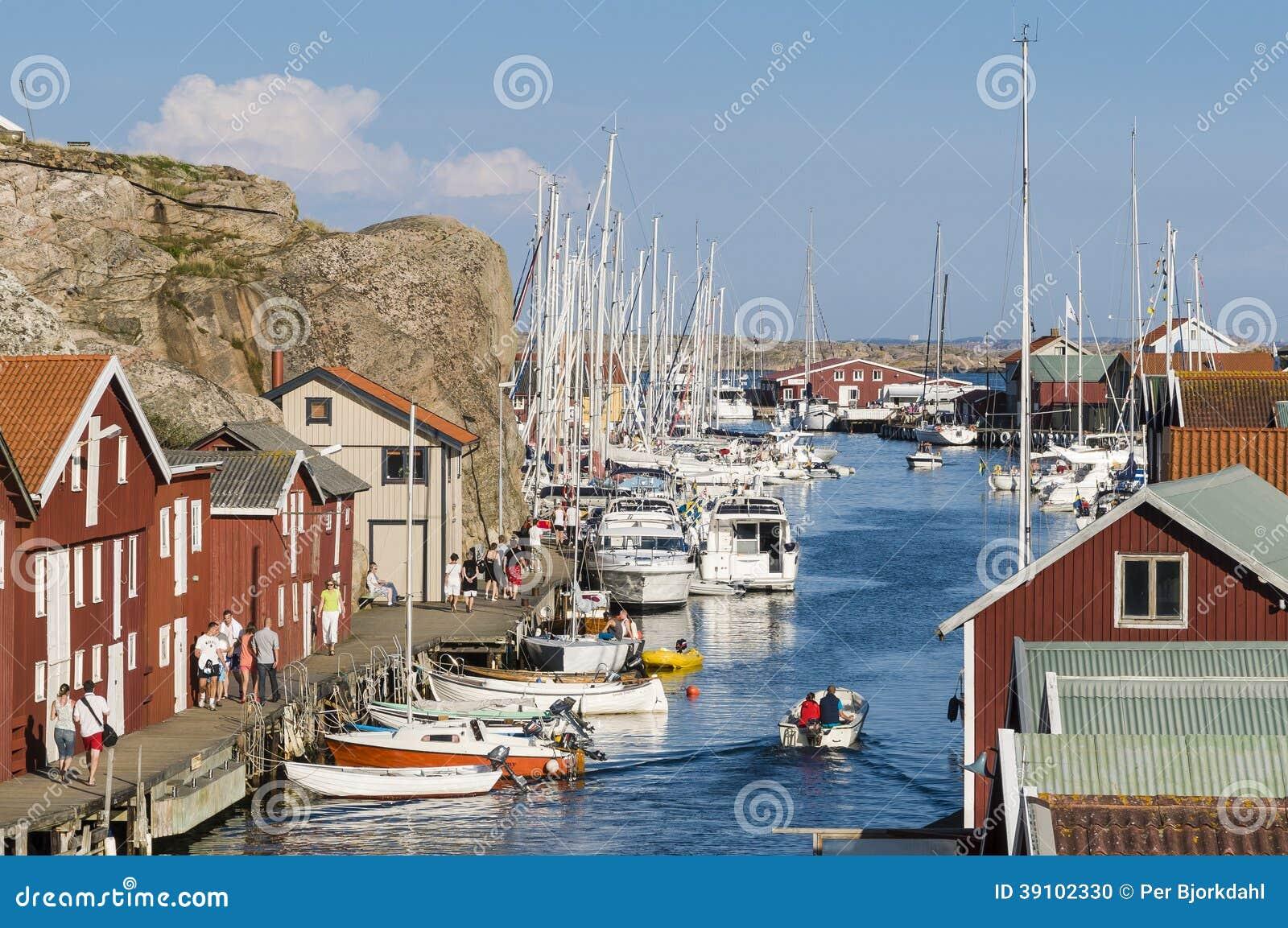 Zweden van de de havenwestkust van de Smögengast