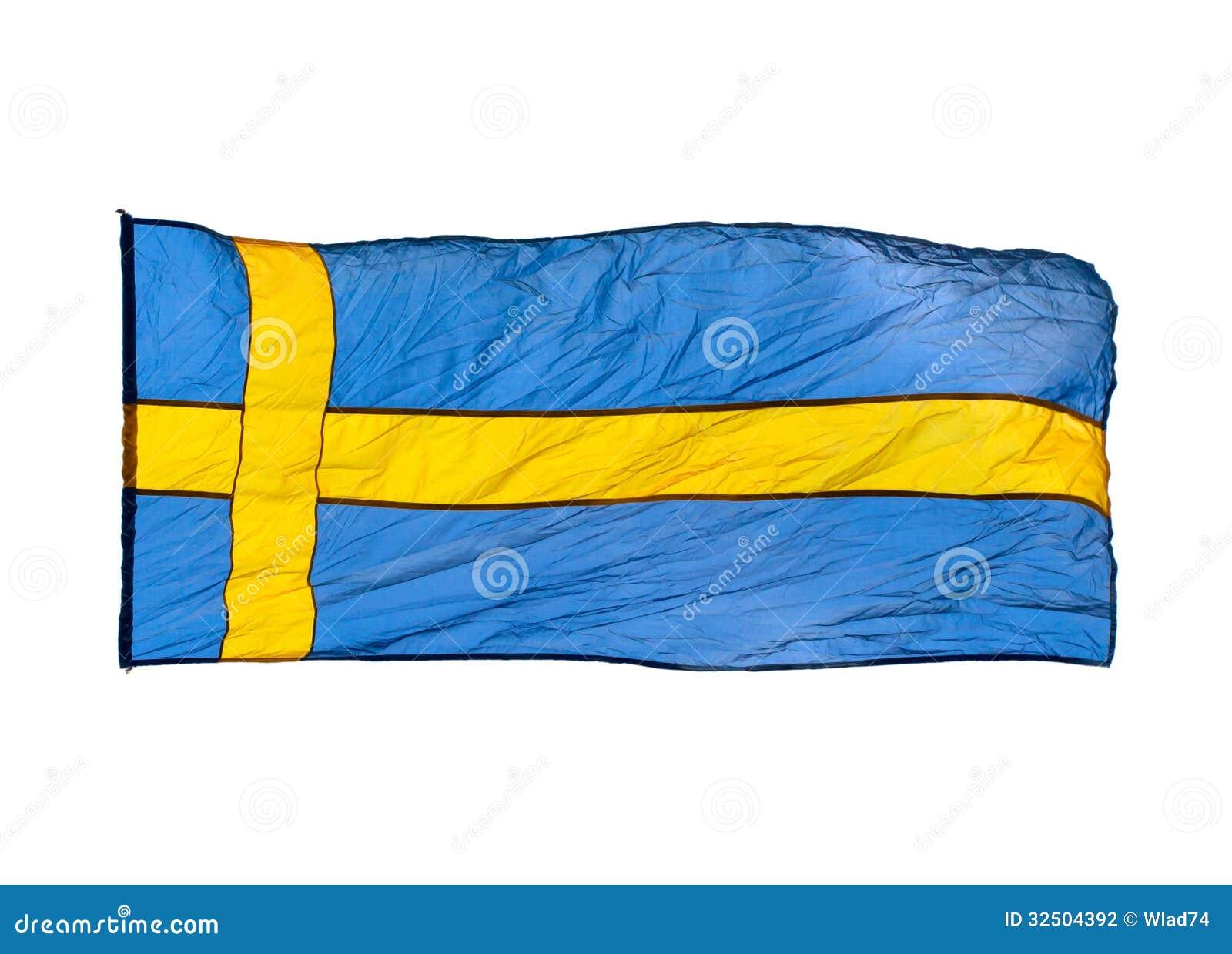 Achtergrond Witte Keuken : Zweedse Vlag Op Witte Achtergrond Stock ...