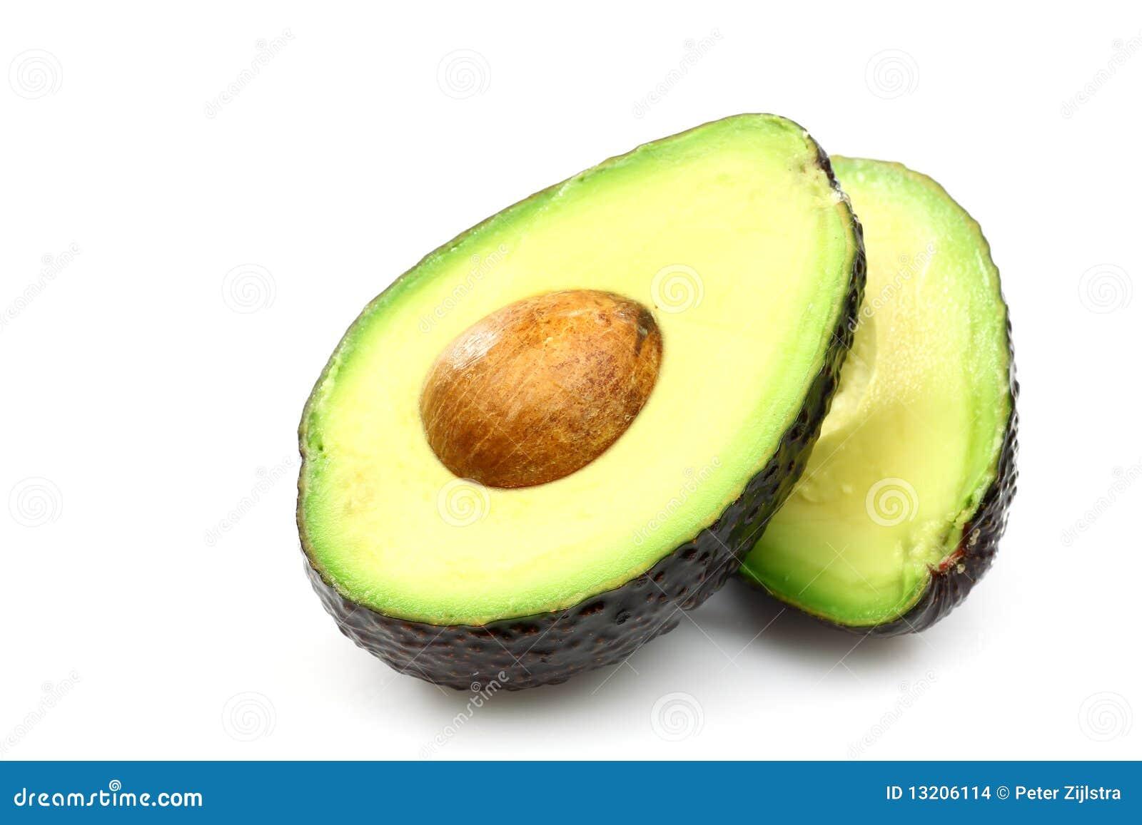 Zwei Avocadohälften stockfoto. Bild von hälften, guacamole - 13206114