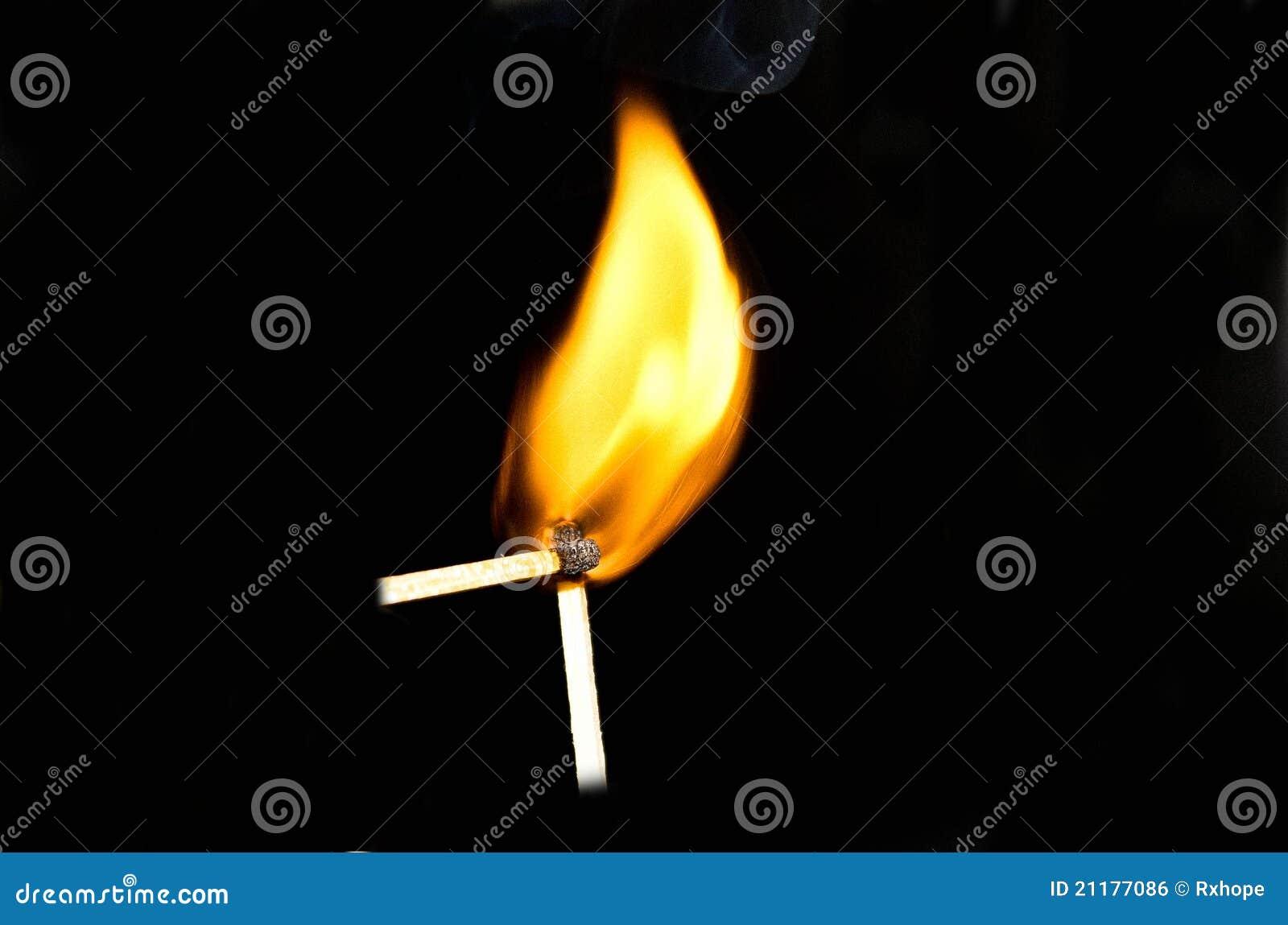 Zwei brennende Matchsticks