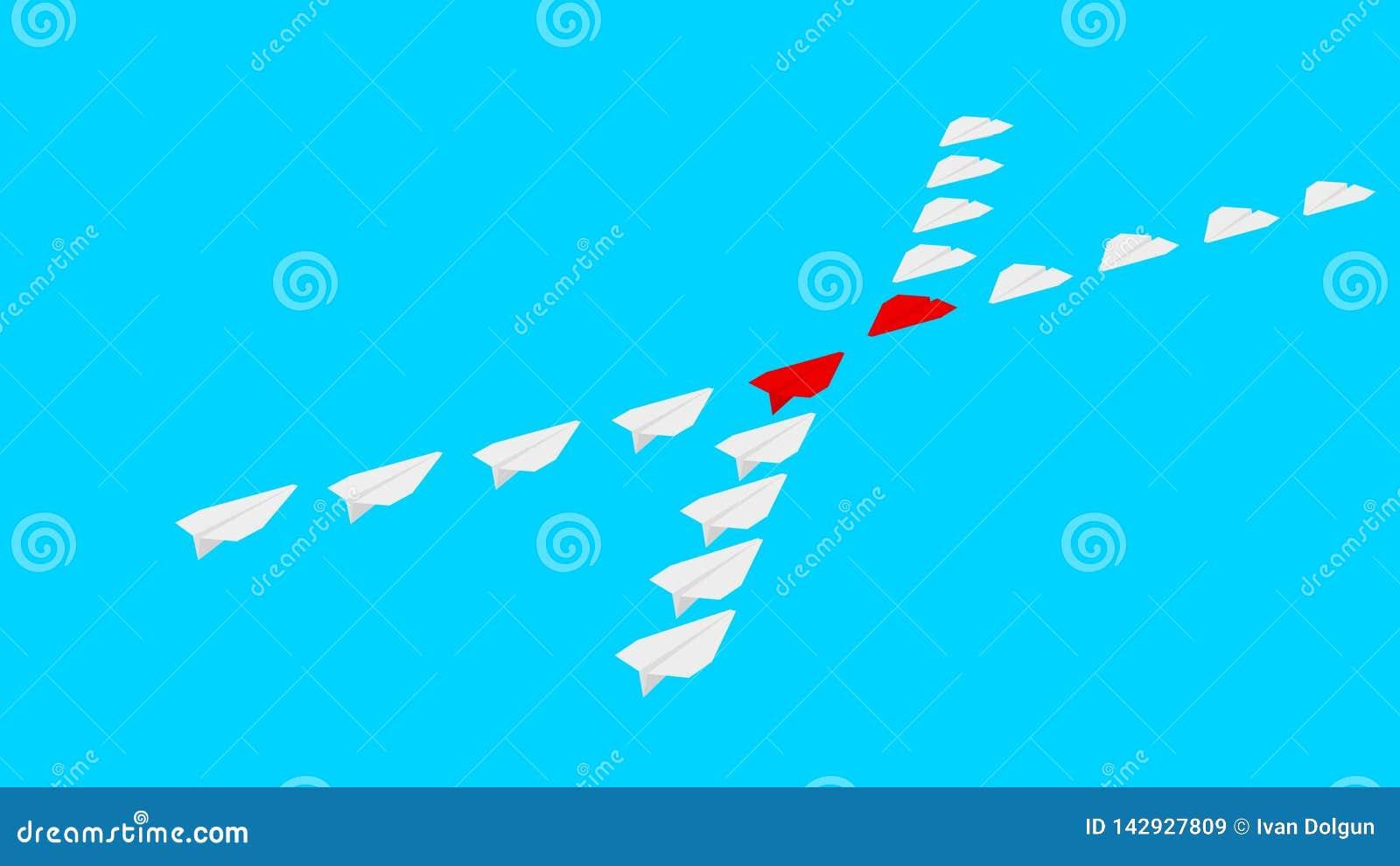 Zwei Firmen konkurrieren Tapezieren Sie Flugzeuge