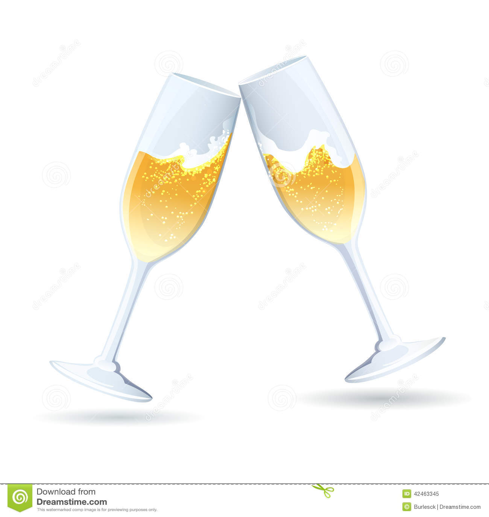 Zwei Flöten goldener sprudelnder Champagner